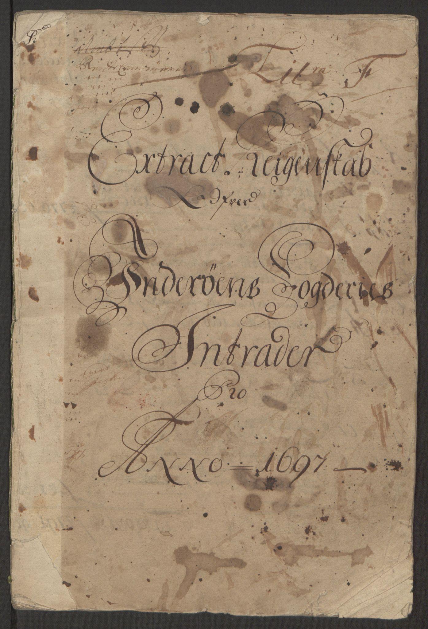 RA, Rentekammeret inntil 1814, Reviderte regnskaper, Fogderegnskap, R63/L4309: Fogderegnskap Inderøy, 1695-1697, s. 377