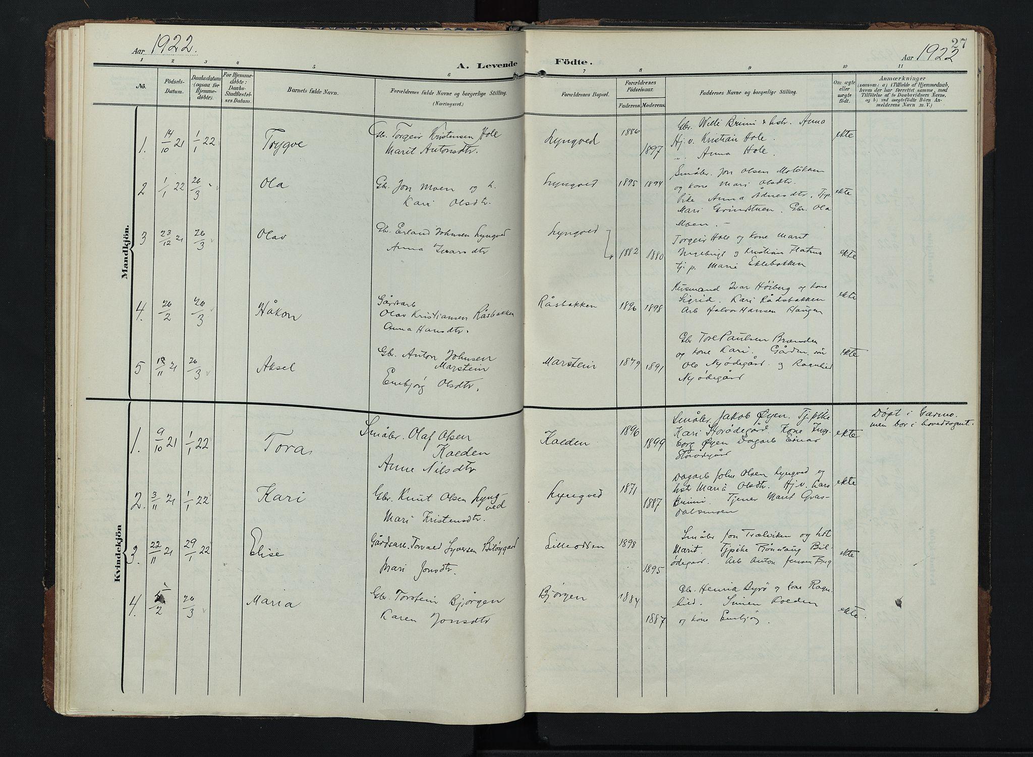 SAH, Lom prestekontor, K/L0011: Ministerialbok nr. 11, 1904-1928, s. 27