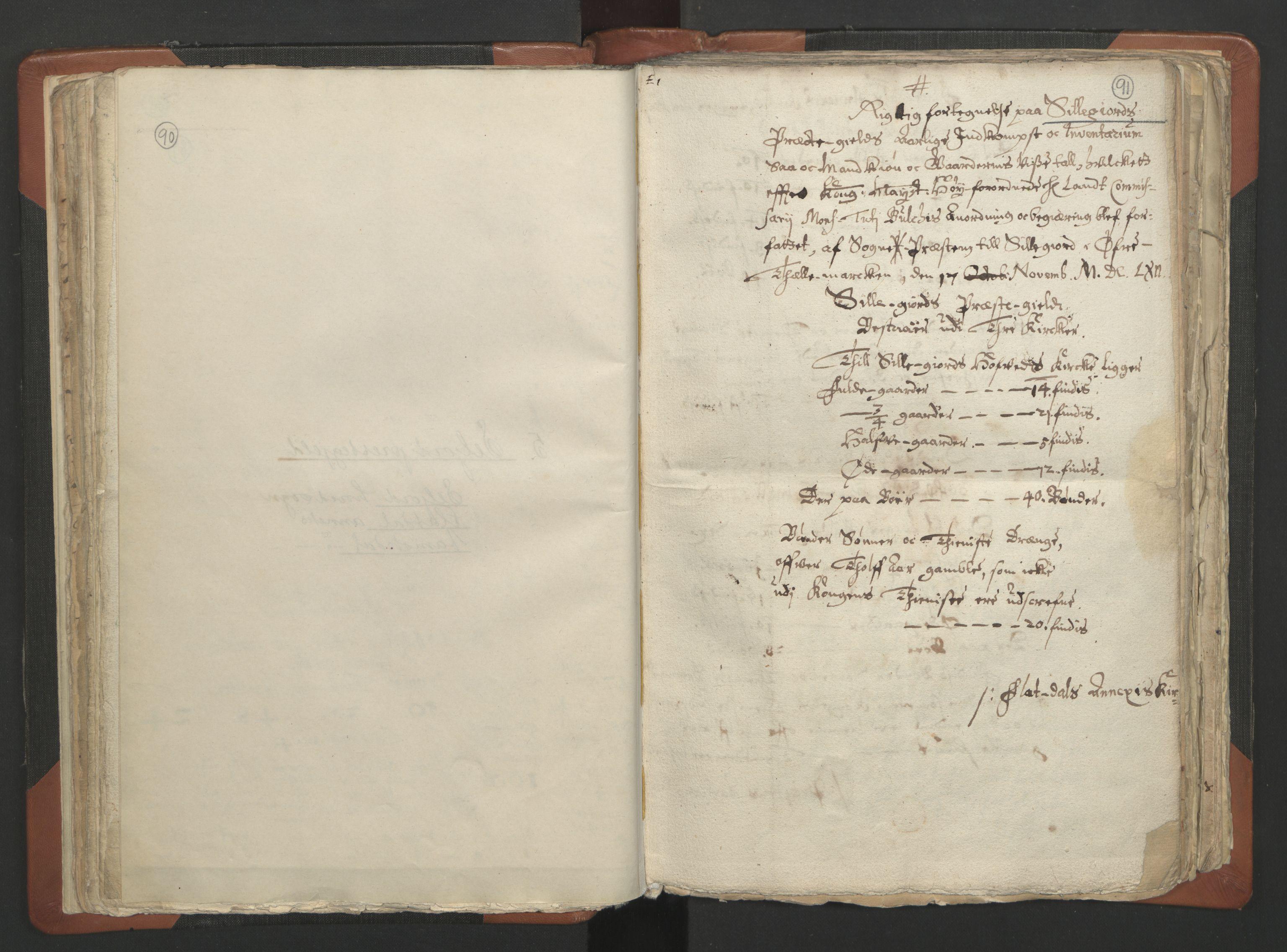 RA, Sogneprestenes manntall 1664-1666, nr. 12: Øvre Telemark prosti, Nedre Telemark prosti og Bamble prosti, 1664-1666, s. 90-91