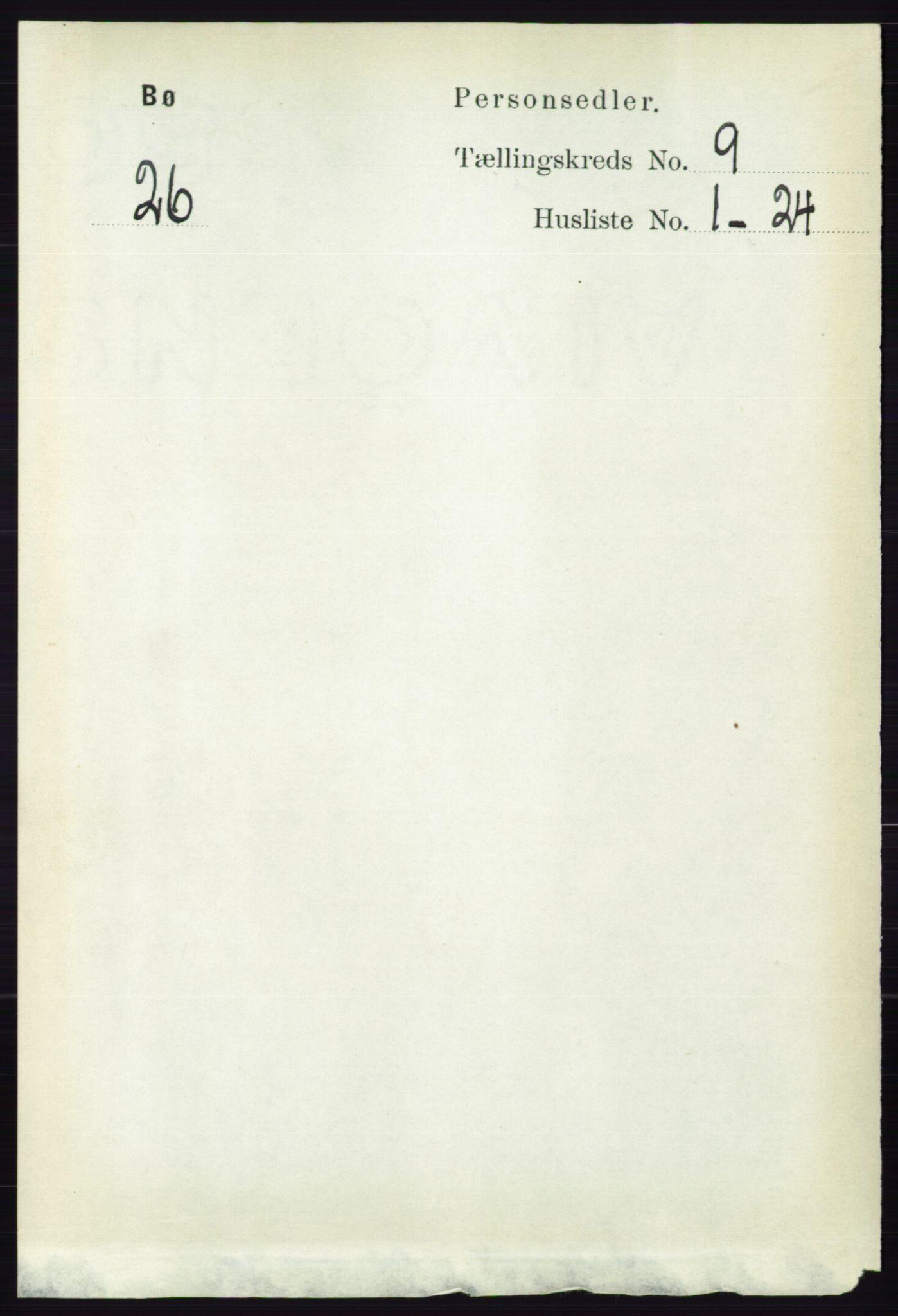 RA, Folketelling 1891 for 0821 Bø herred, 1891, s. 2882