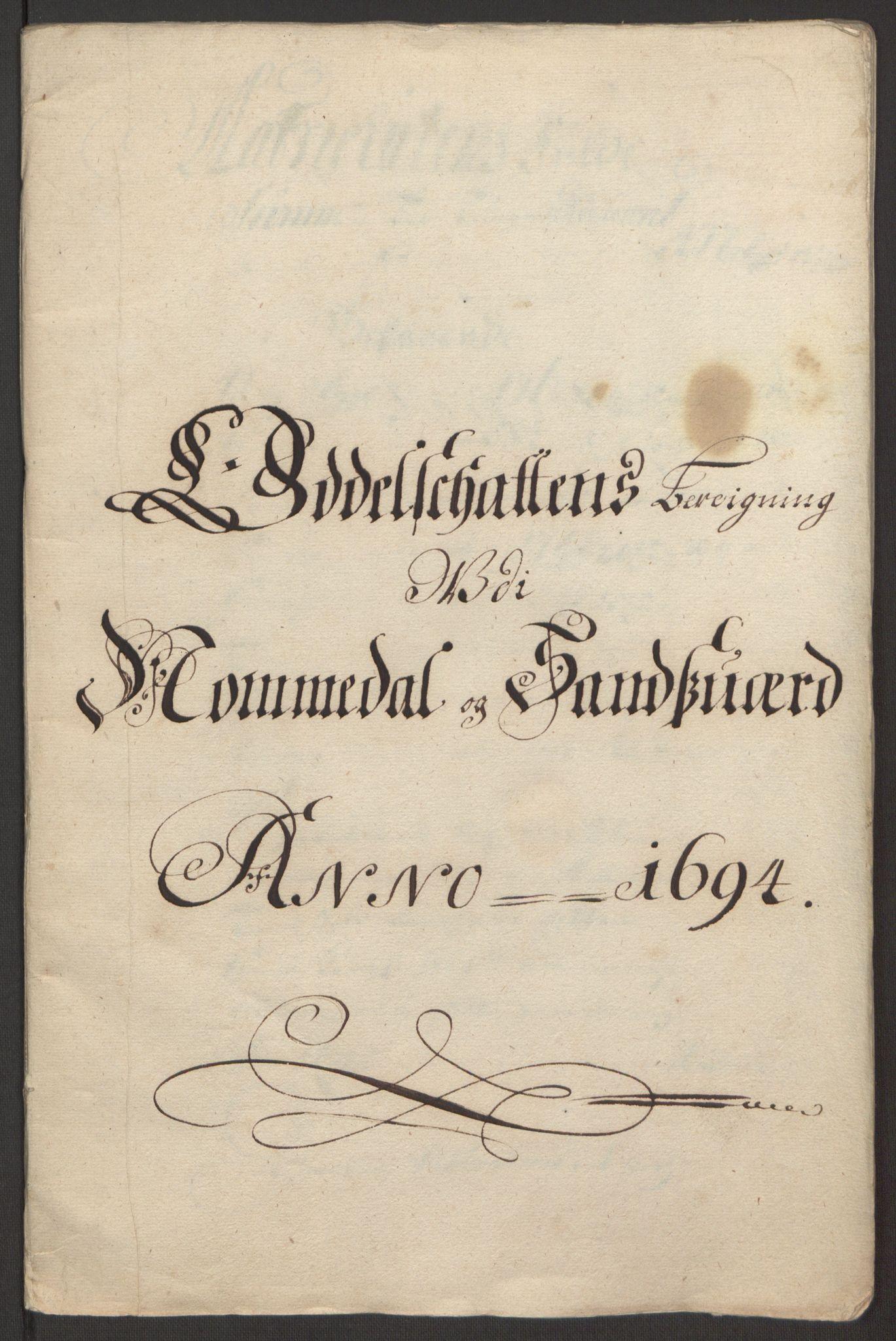 RA, Rentekammeret inntil 1814, Reviderte regnskaper, Fogderegnskap, R24/L1575: Fogderegnskap Numedal og Sandsvær, 1692-1695, s. 220