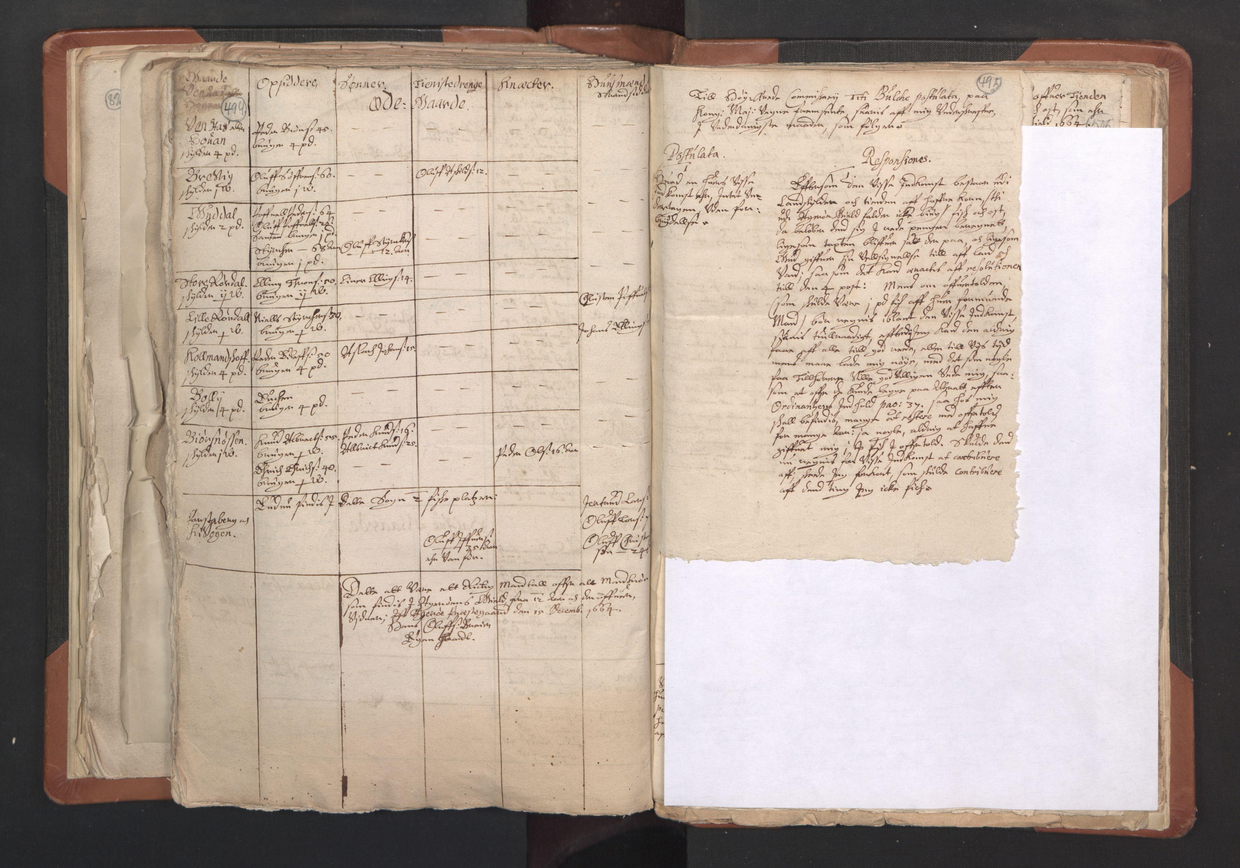 RA, Sogneprestenes manntall 1664-1666, nr. 27: Romsdal prosti, 1664-1666, s. 494-495
