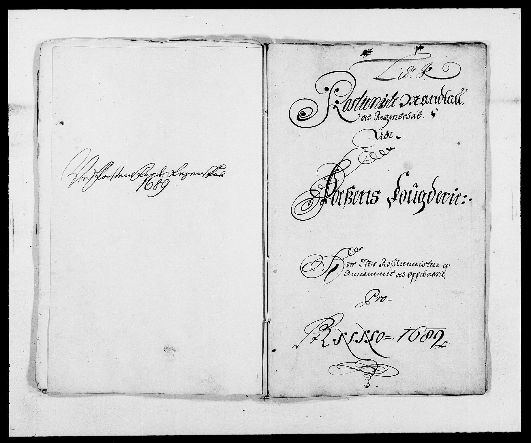 RA, Rentekammeret inntil 1814, Reviderte regnskaper, Fogderegnskap, R57/L3847: Fogderegnskap Fosen, 1689, s. 79