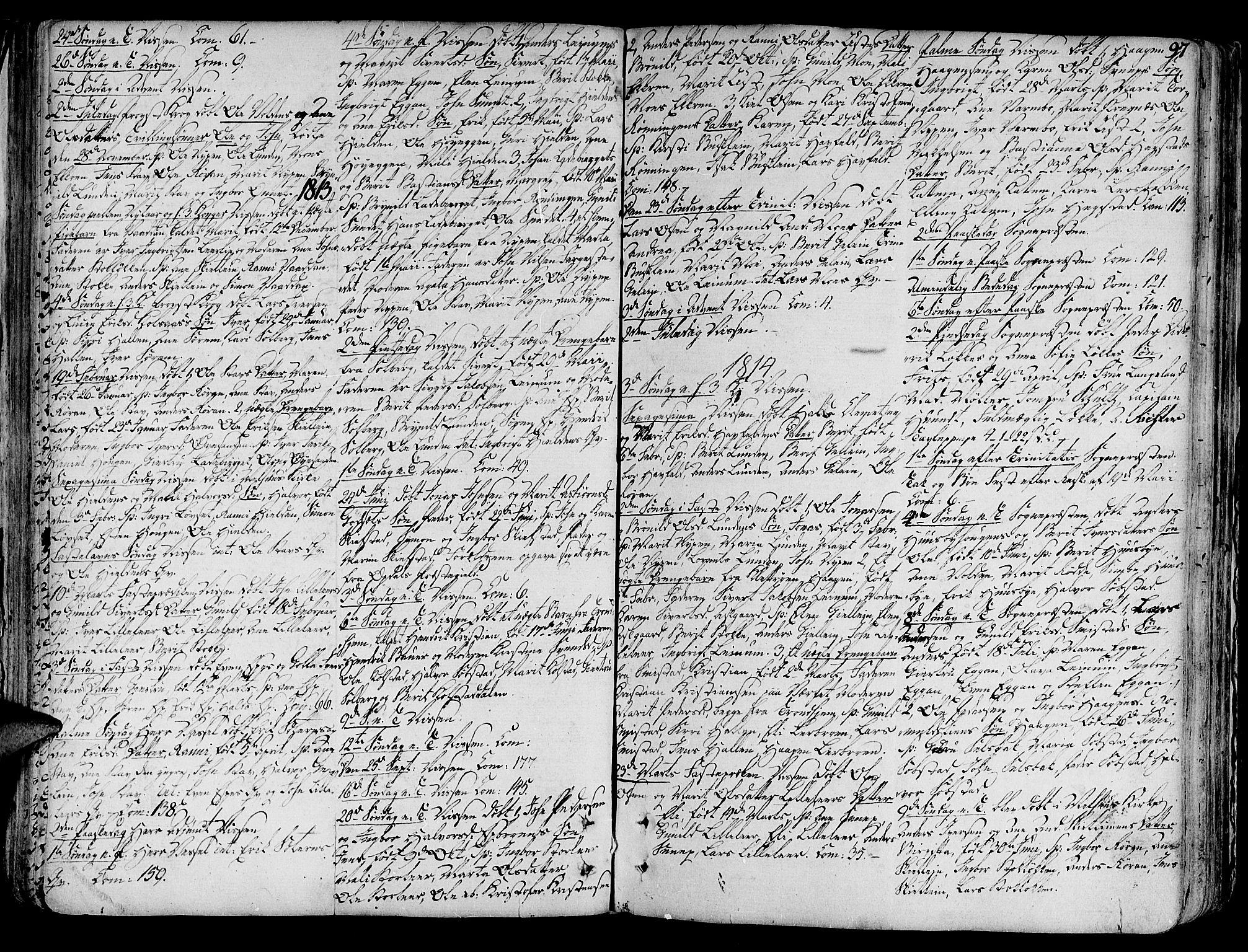 SAT, Ministerialprotokoller, klokkerbøker og fødselsregistre - Sør-Trøndelag, 691/L1063: Ministerialbok nr. 691A02 /3, 1768-1815, s. 97