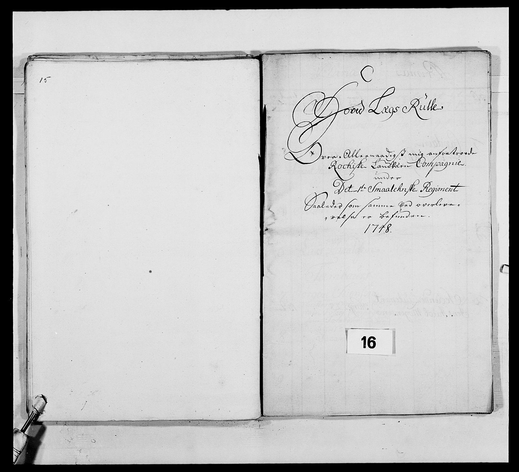 RA, Kommanderende general (KG I) med Det norske krigsdirektorium, E/Ea/L0495: 1. Smålenske regiment, 1732-1763, s. 187