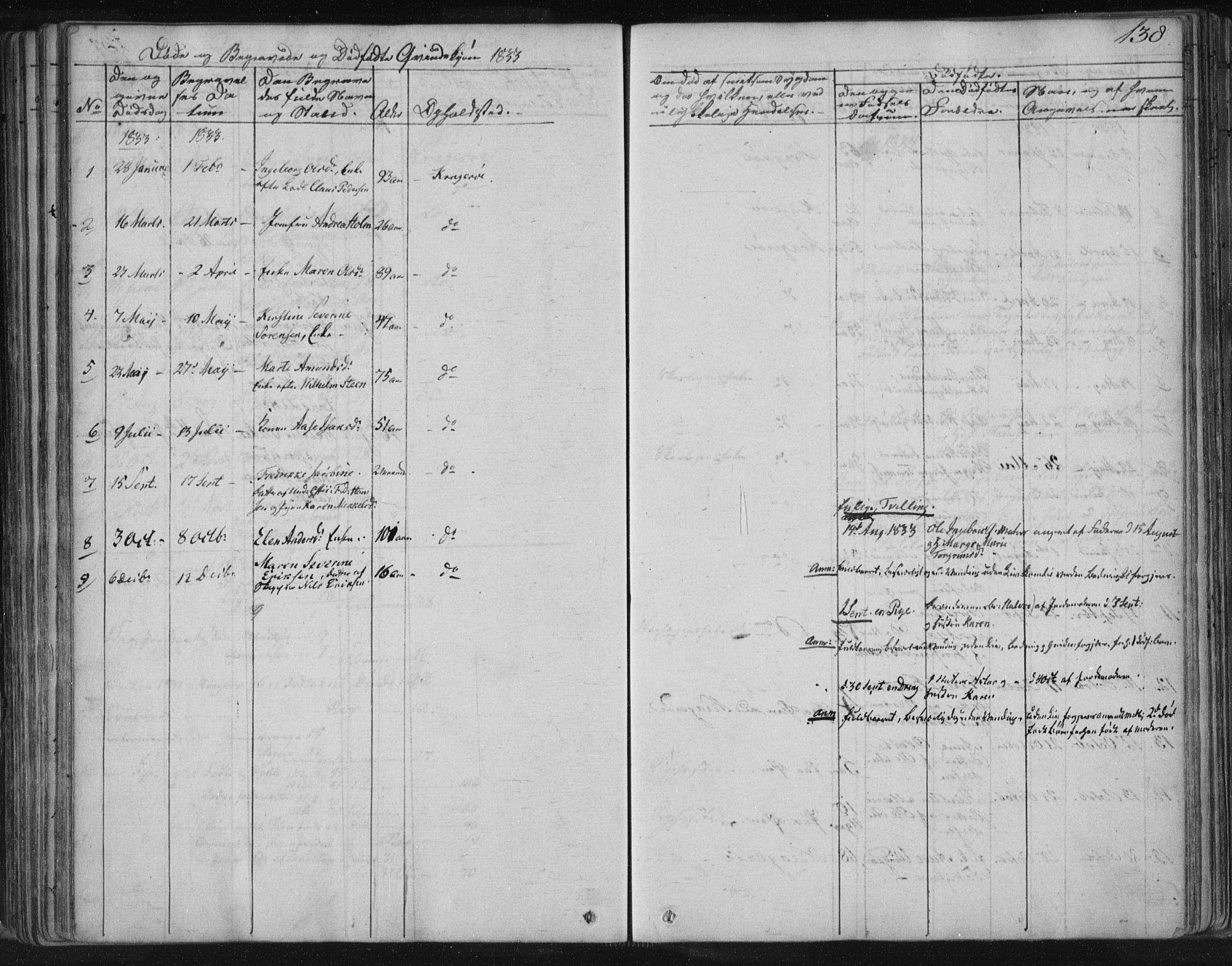 SAKO, Kragerø kirkebøker, F/Fa/L0005: Ministerialbok nr. 5, 1832-1847, s. 138
