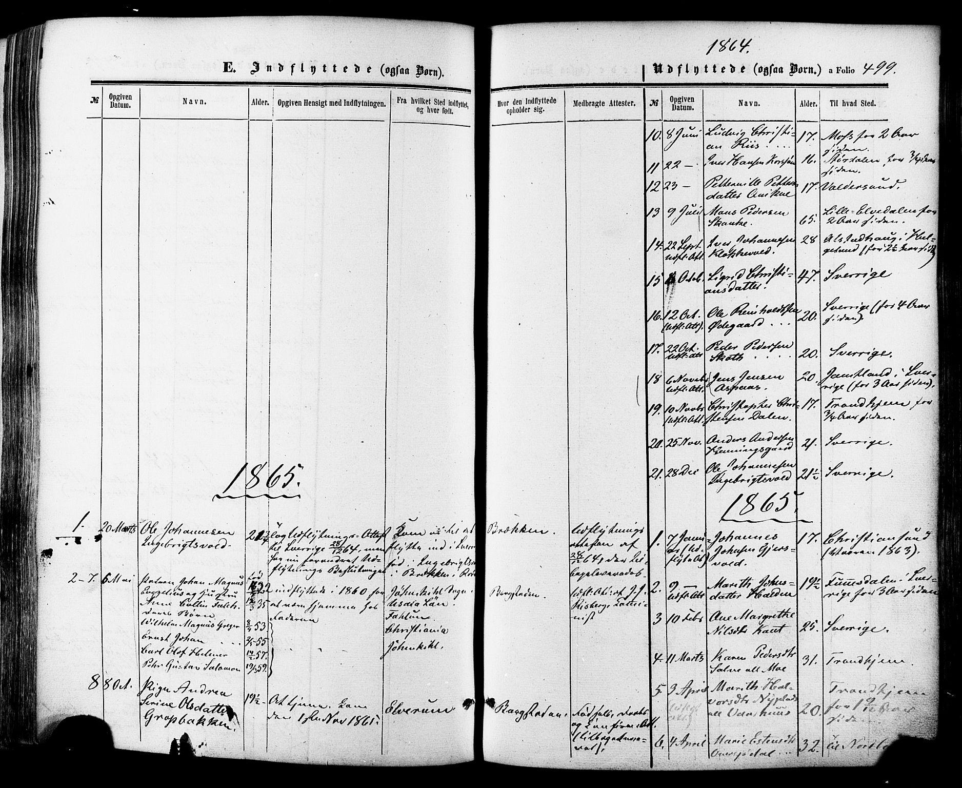 SAT, Ministerialprotokoller, klokkerbøker og fødselsregistre - Sør-Trøndelag, 681/L0932: Ministerialbok nr. 681A10, 1860-1878, s. 499