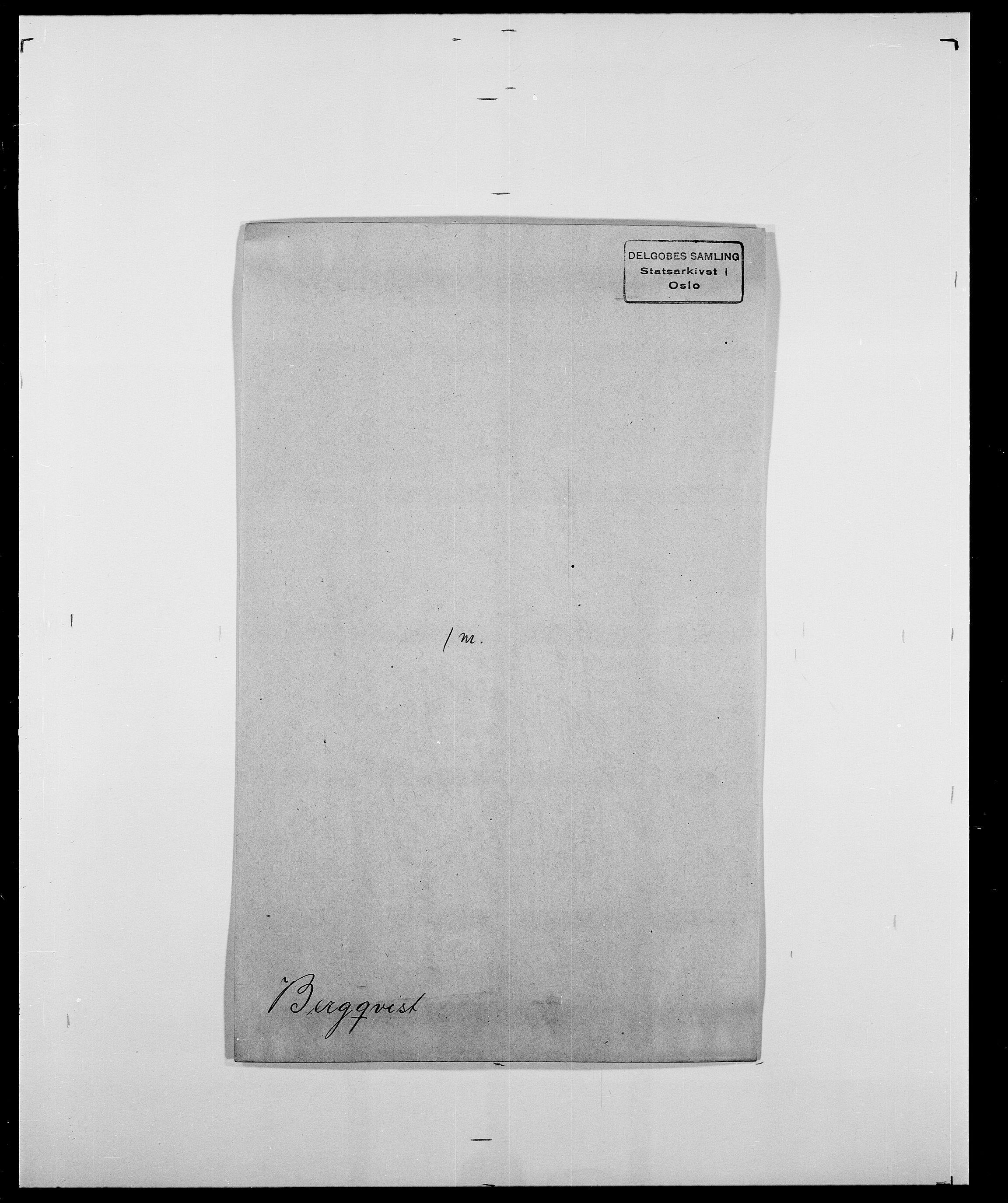 SAO, Delgobe, Charles Antoine - samling, D/Da/L0004: Bergendahl - Blære, s. 38