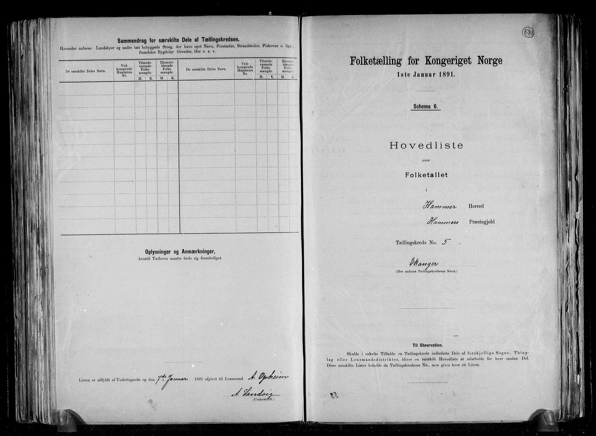 RA, Folketelling 1891 for 1254 Hamre herred, 1891, s. 15