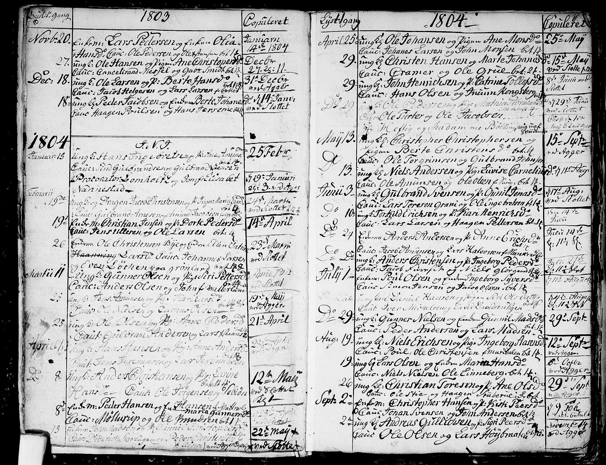 SAO, Aker prestekontor kirkebøker, G/L0001: Klokkerbok nr. 1, 1796-1826, s. 10-11