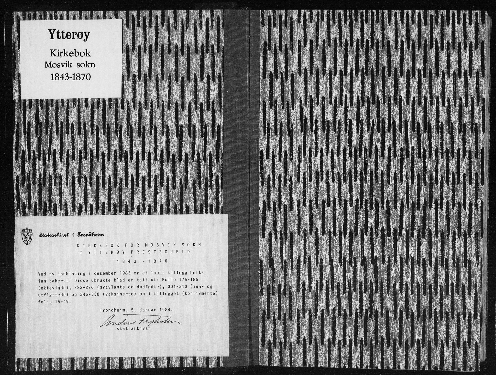 SAT, Ministerialprotokoller, klokkerbøker og fødselsregistre - Nord-Trøndelag, 733/L0323: Ministerialbok nr. 733A02, 1843-1870
