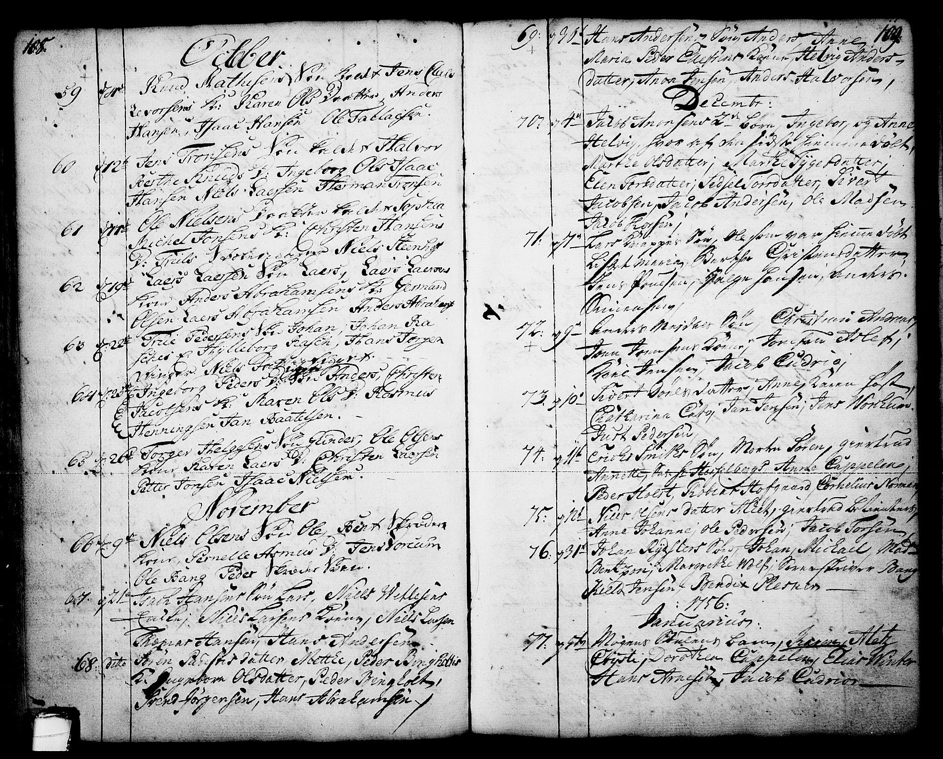 SAKO, Skien kirkebøker, F/Fa/L0003: Ministerialbok nr. 3, 1755-1791, s. 108-109