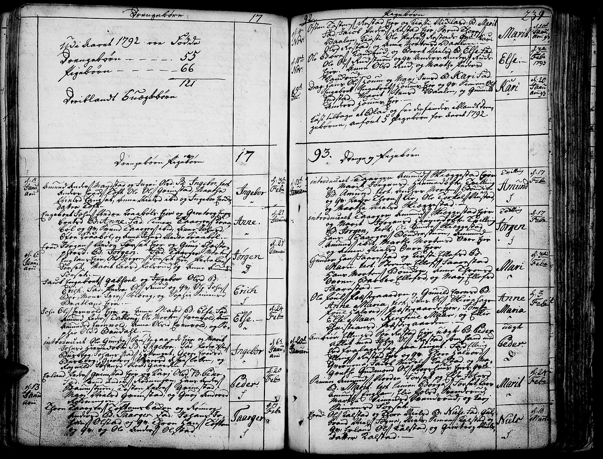 SAH, Gausdal prestekontor, Ministerialbok nr. 3, 1758-1809, s. 239