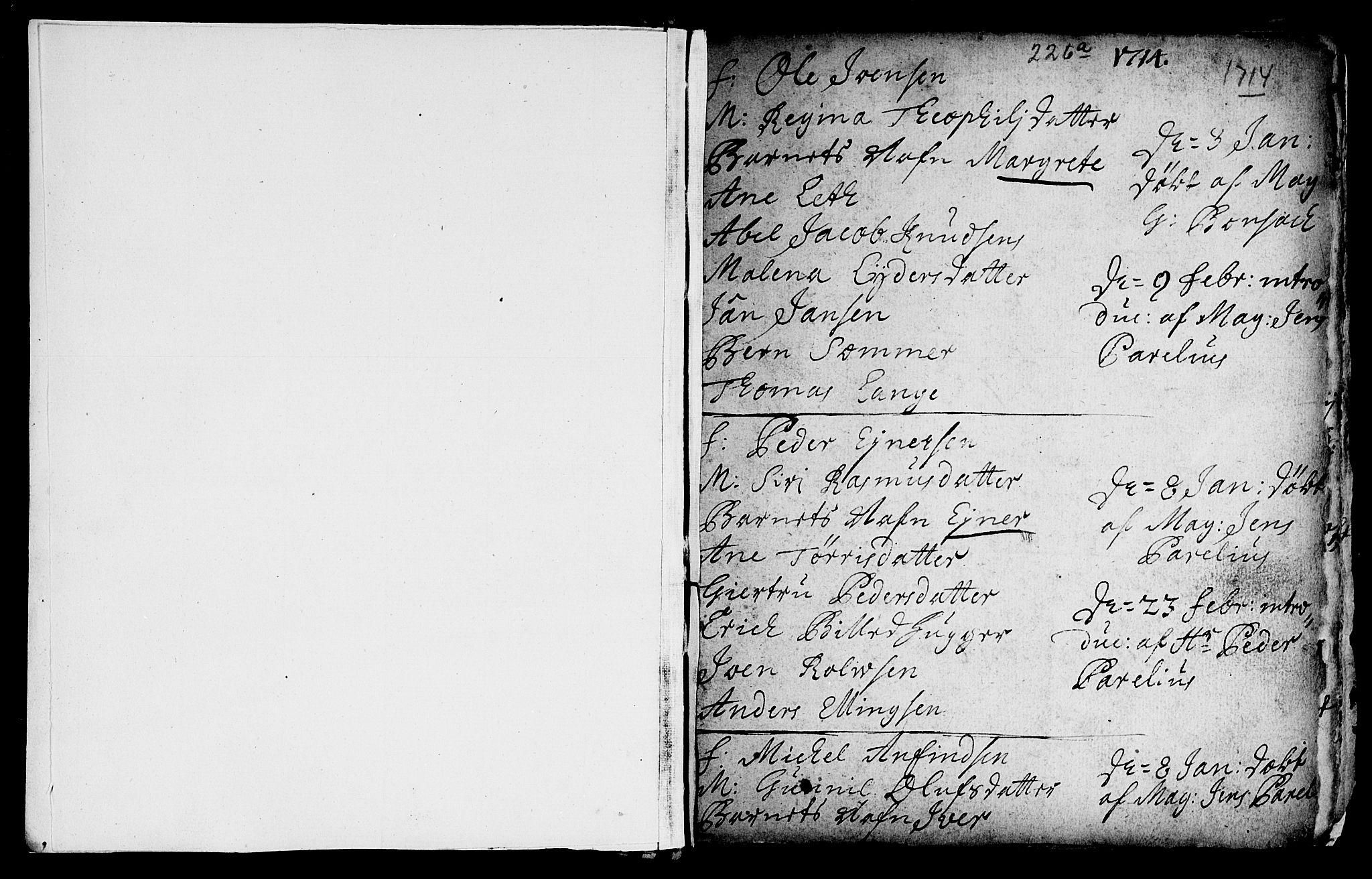 SAT, Ministerialprotokoller, klokkerbøker og fødselsregistre - Sør-Trøndelag, 601/L0035: Ministerialbok nr. 601A03, 1713-1728, s. 226c
