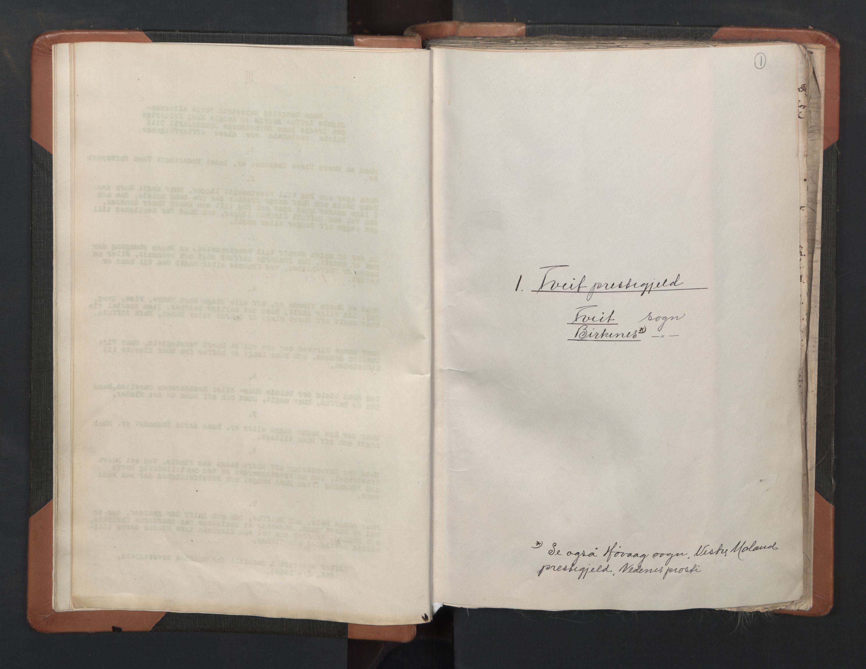 RA, Sogneprestenes manntall 1664-1666, nr. 15: Mandal prosti, 1664-1666, s. 1