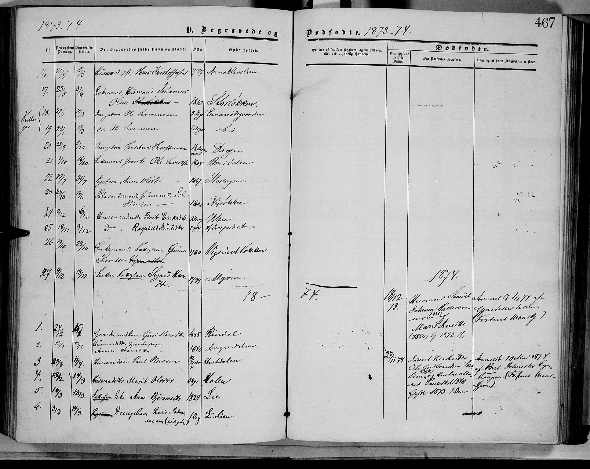 SAH, Dovre prestekontor, Ministerialbok nr. 1, 1854-1878, s. 467