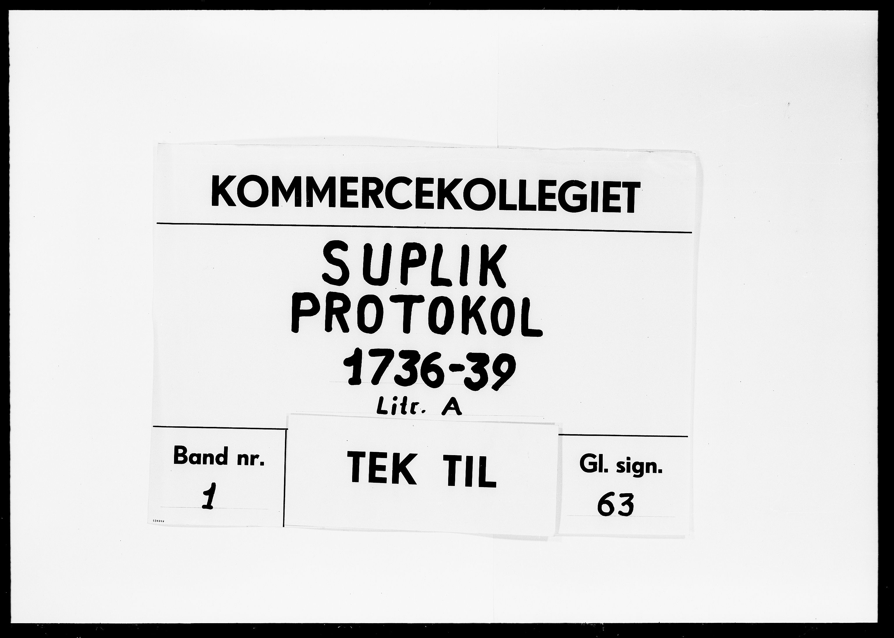 DRA, Kommercekollegiet, Dansk-Norske Sekretariat, -/31: Suplik Protokol A, 1736-1739
