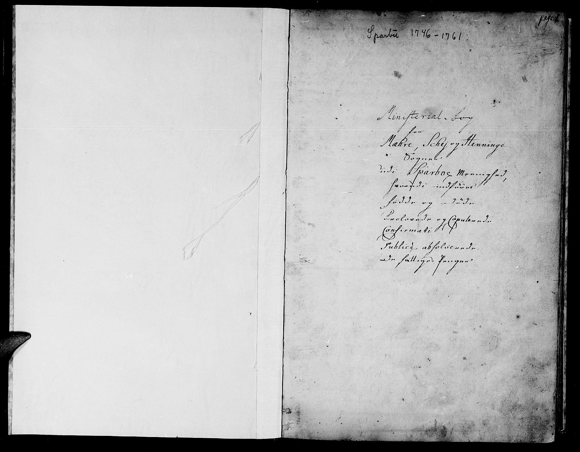SAT, Ministerialprotokoller, klokkerbøker og fødselsregistre - Nord-Trøndelag, 735/L0330: Ministerialbok nr. 735A01, 1740-1766, s. 0-1