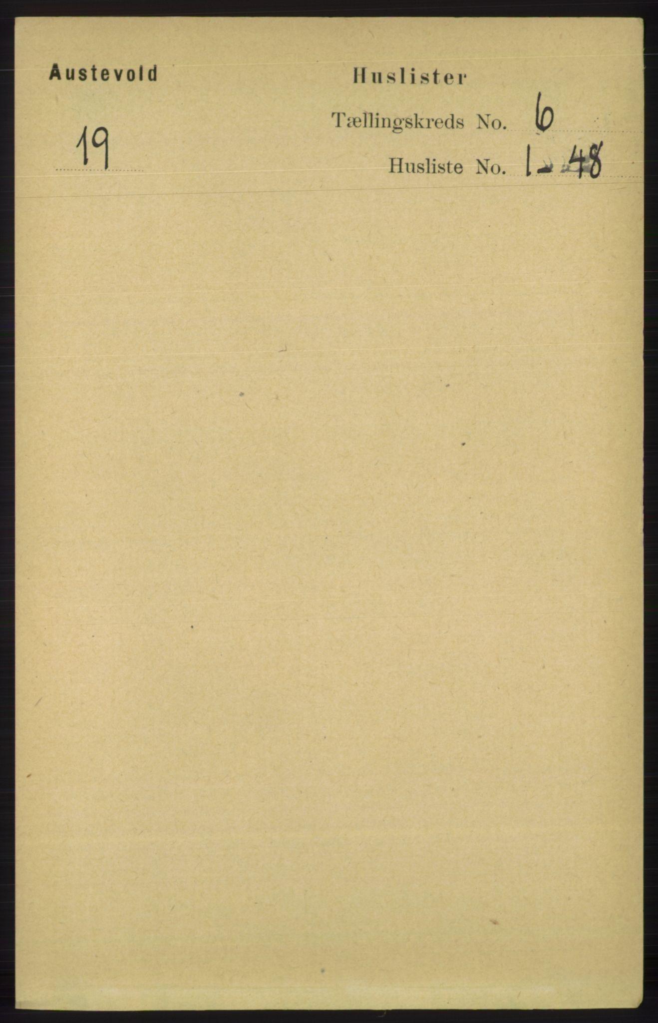 RA, Folketelling 1891 for 1244 Austevoll herred, 1891, s. 2516