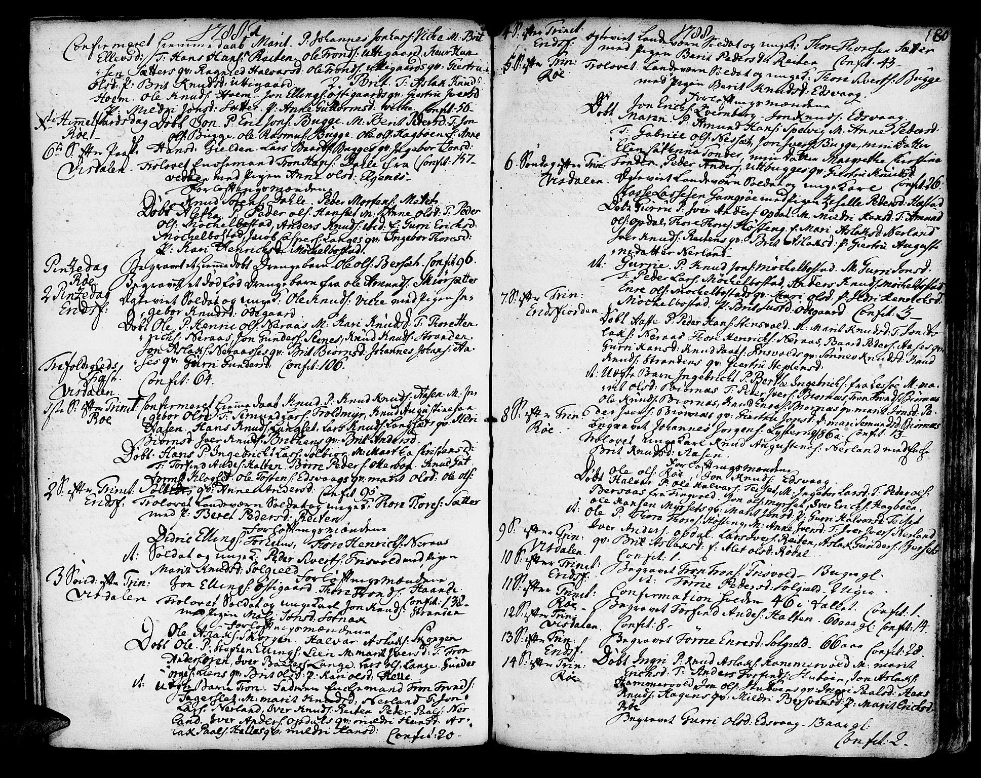 SAT, Ministerialprotokoller, klokkerbøker og fødselsregistre - Møre og Romsdal, 551/L0621: Ministerialbok nr. 551A01, 1757-1803, s. 180