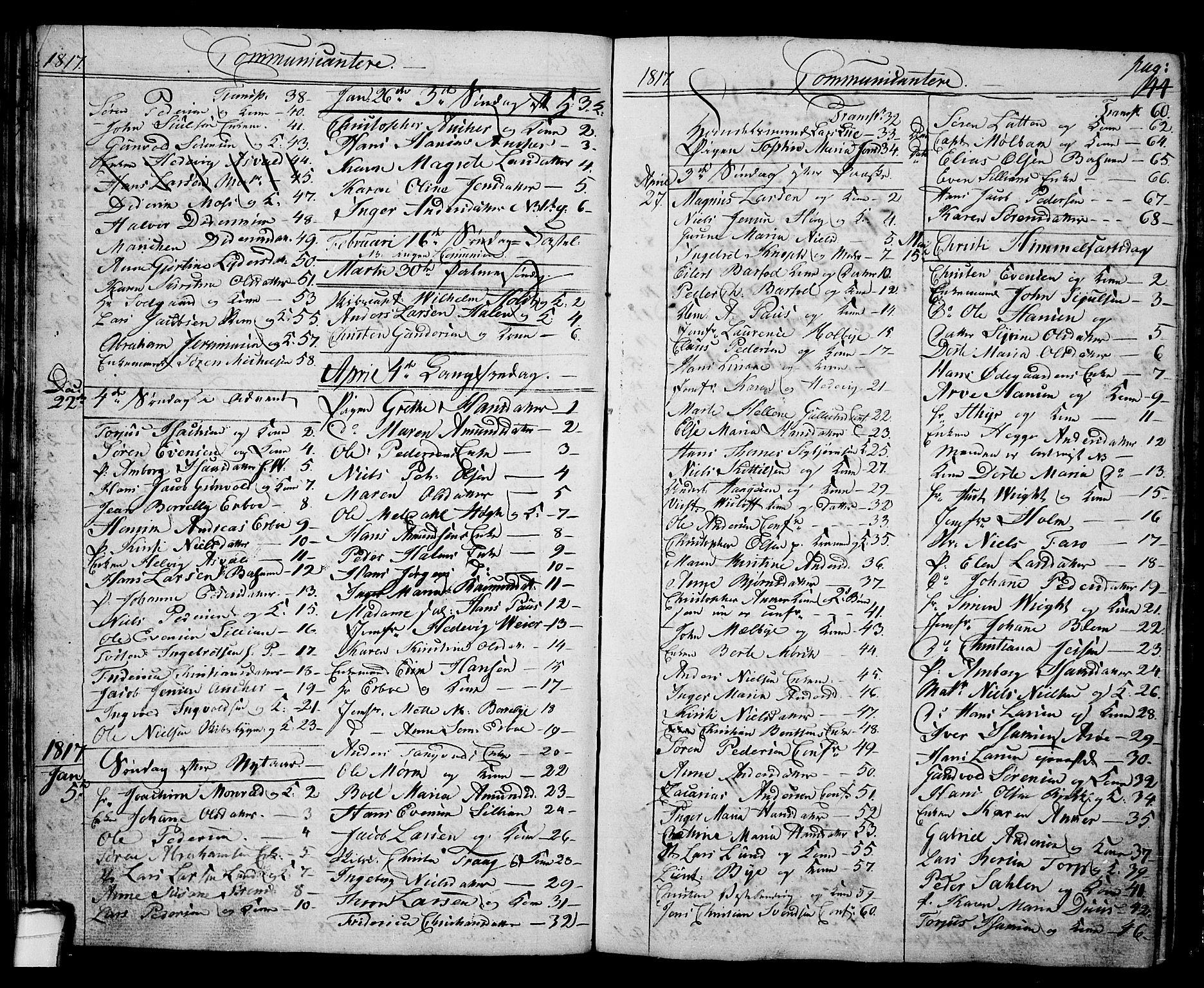 SAKO, Langesund kirkebøker, G/Ga/L0002: Klokkerbok nr. 2, 1801-1815, s. 44