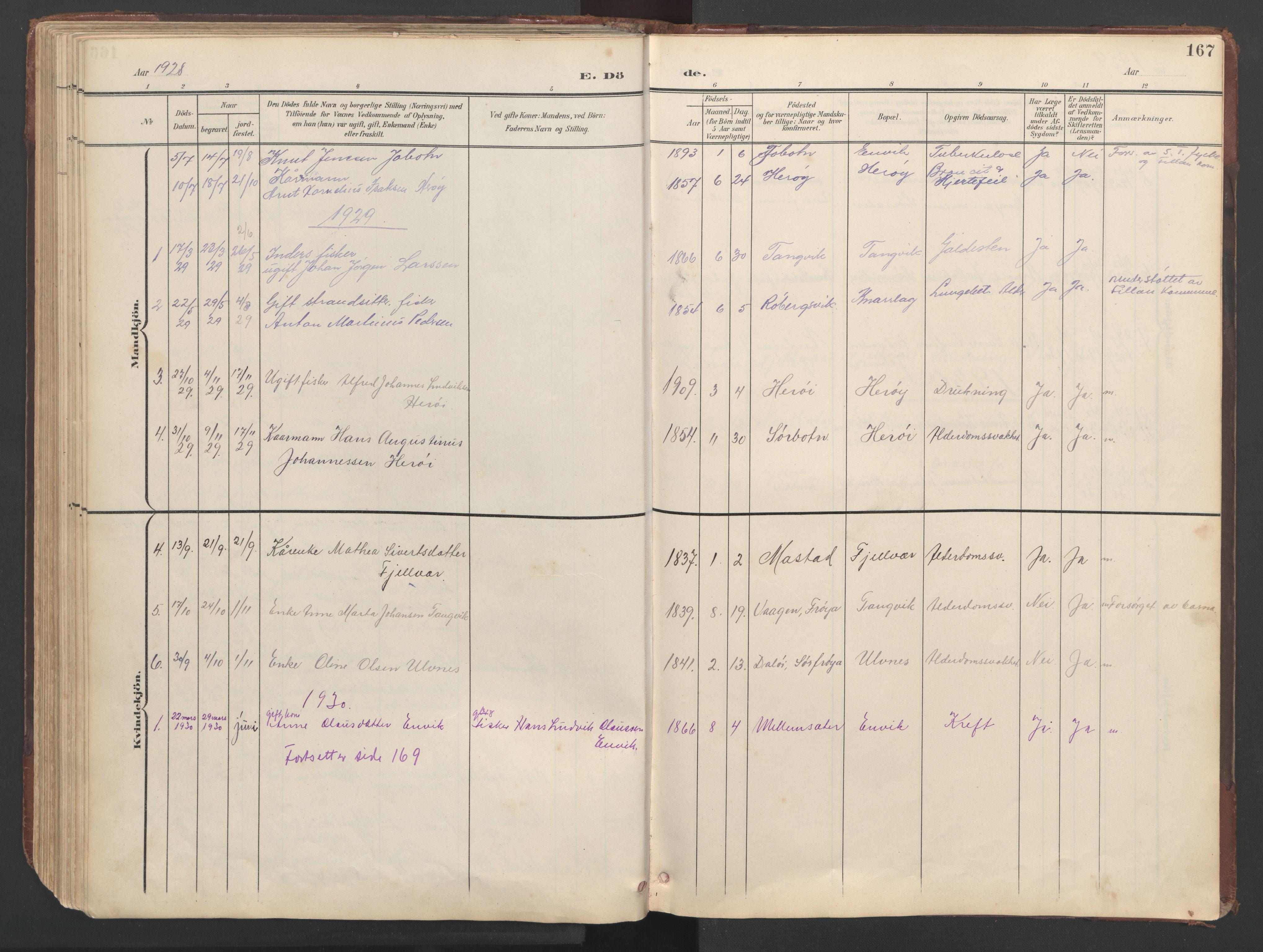 SAT, Ministerialprotokoller, klokkerbøker og fødselsregistre - Sør-Trøndelag, 638/L0571: Klokkerbok nr. 638C03, 1901-1930, s. 167