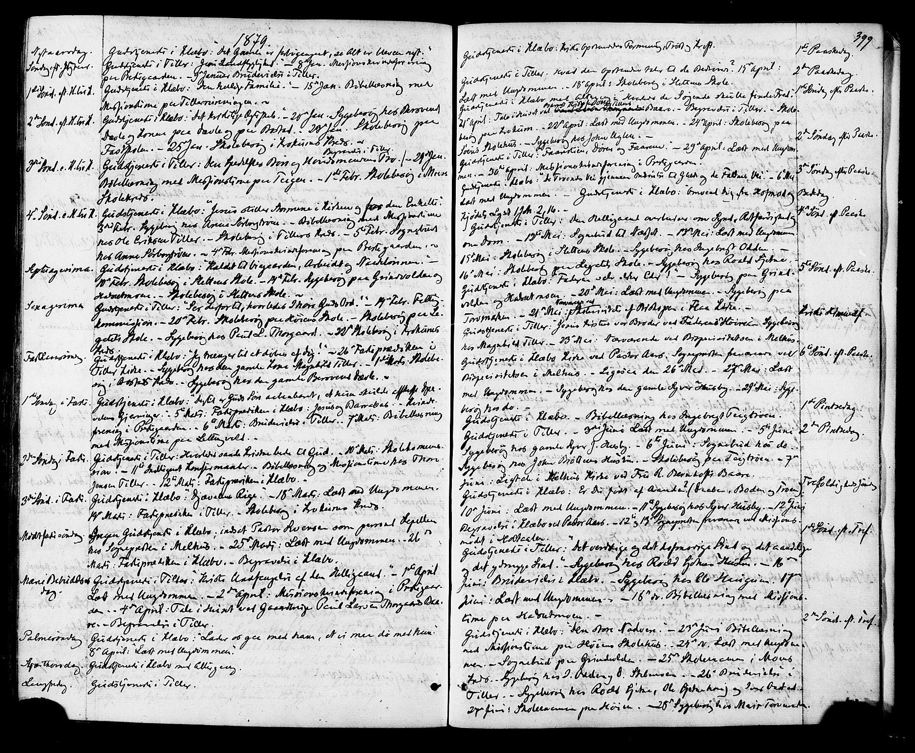 SAT, Ministerialprotokoller, klokkerbøker og fødselsregistre - Sør-Trøndelag, 618/L0442: Ministerialbok nr. 618A06 /1, 1863-1879, s. 399