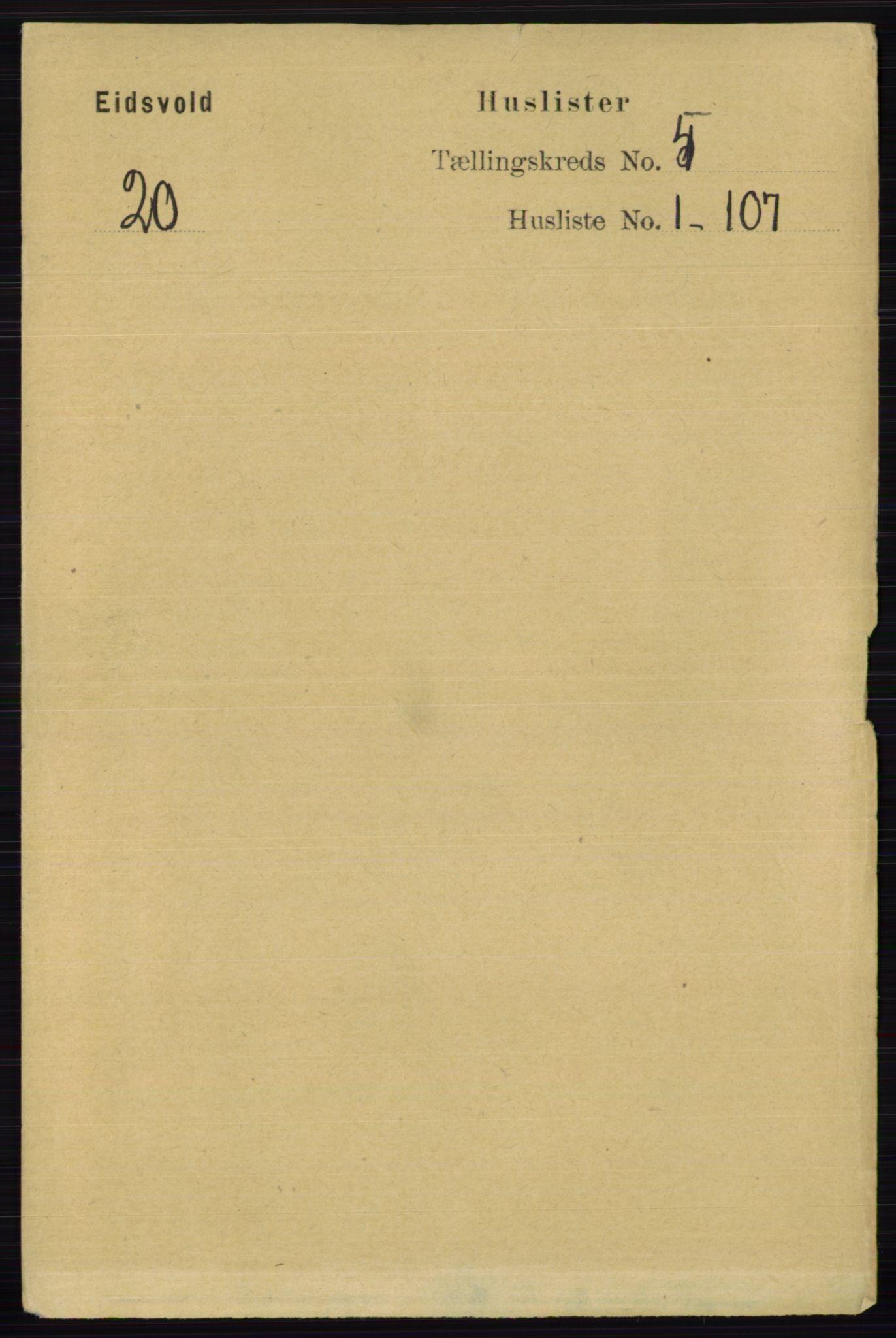 RA, Folketelling 1891 for 0237 Eidsvoll herred, 1891, s. 2633