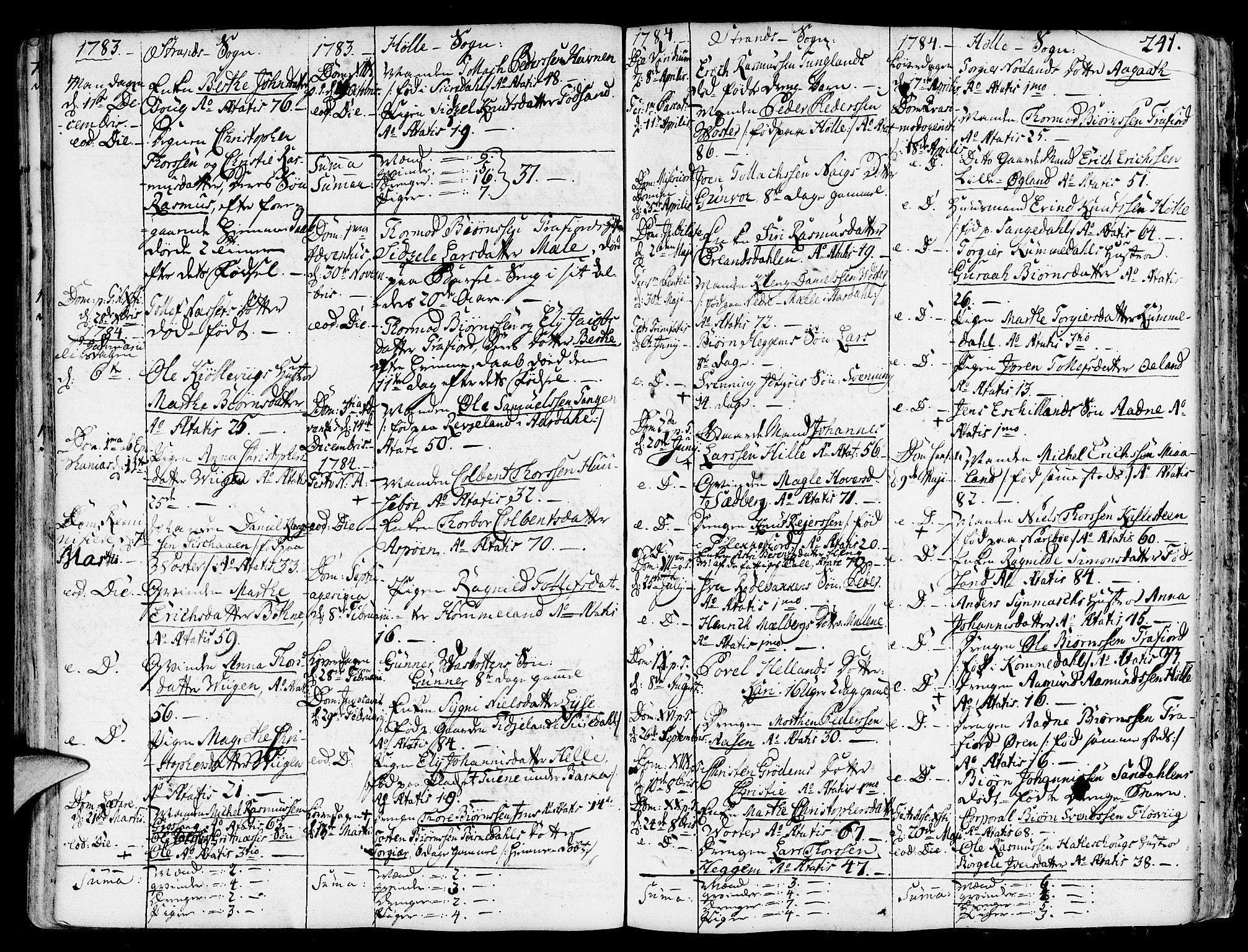 SAST, Strand sokneprestkontor, H/Ha/Haa/L0003: Ministerialbok nr. A 3, 1769-1816, s. 241