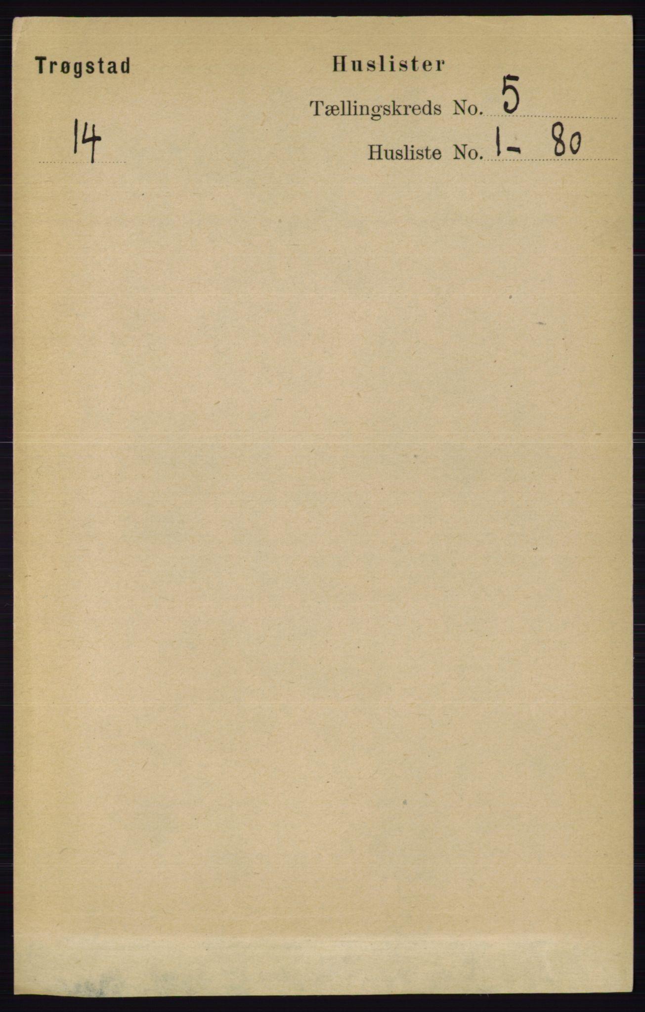 RA, Folketelling 1891 for 0122 Trøgstad herred, 1891, s. 1943