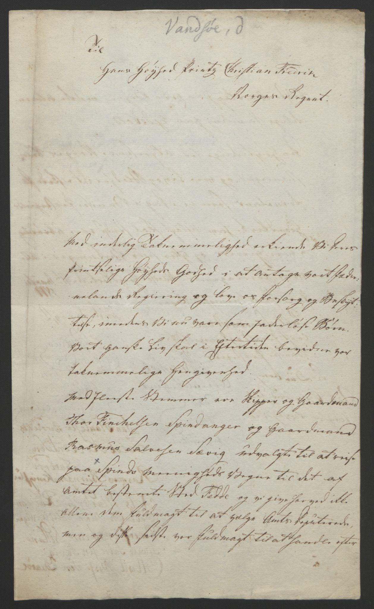 RA, Statsrådssekretariatet, D/Db/L0008: Fullmakter for Eidsvollsrepresentantene i 1814. , 1814, s. 192