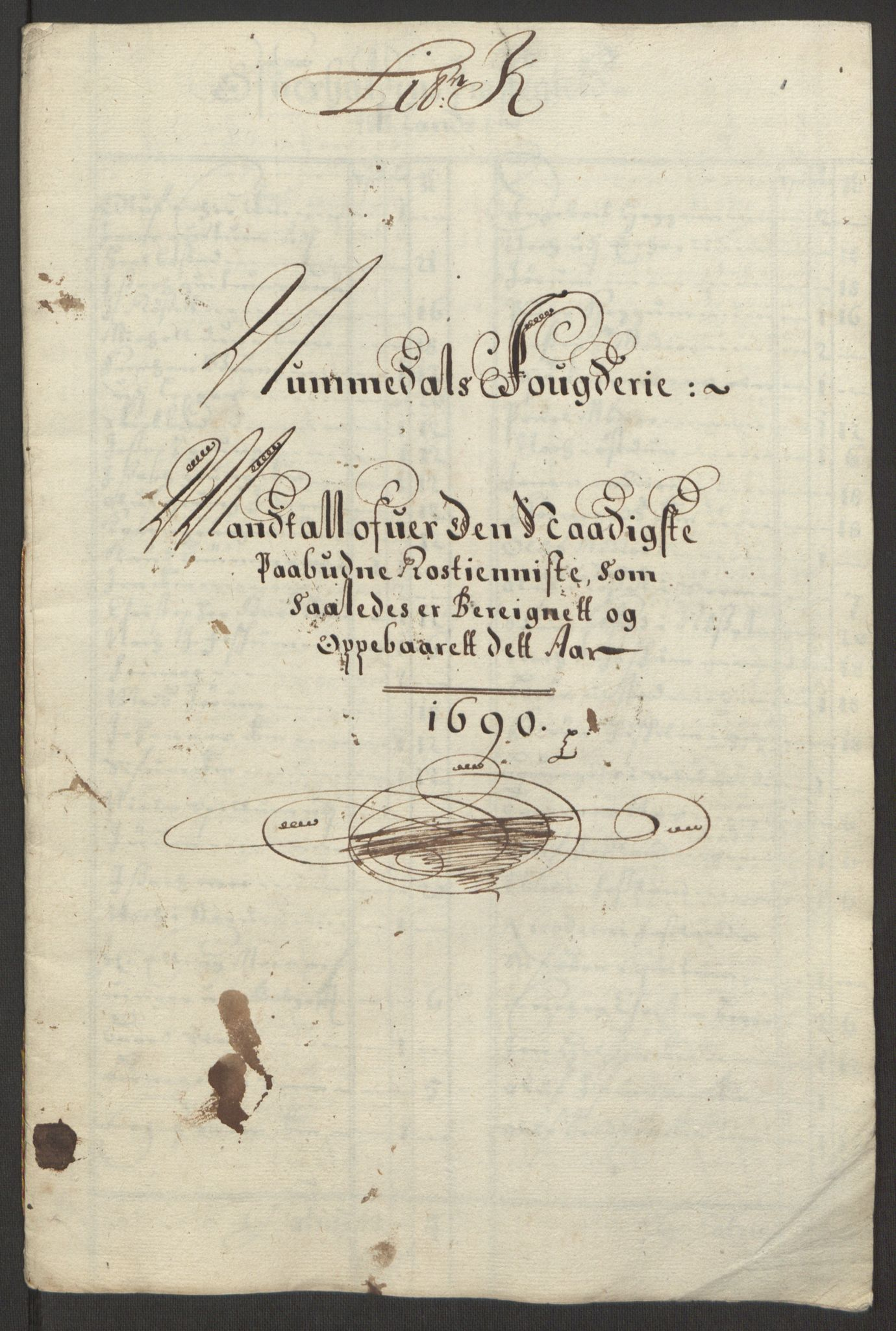 RA, Rentekammeret inntil 1814, Reviderte regnskaper, Fogderegnskap, R64/L4423: Fogderegnskap Namdal, 1690-1691, s. 64