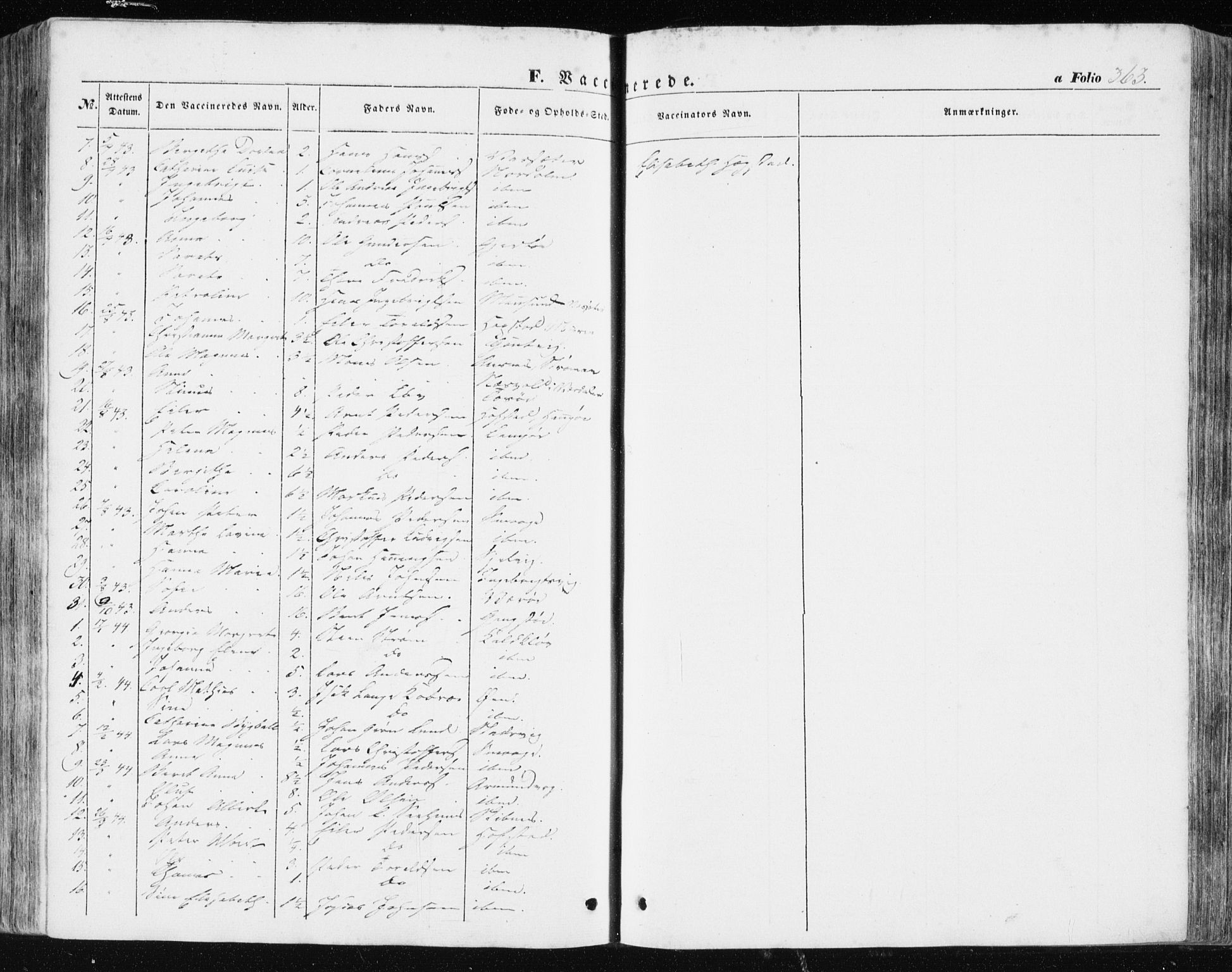 SAT, Ministerialprotokoller, klokkerbøker og fødselsregistre - Sør-Trøndelag, 634/L0529: Ministerialbok nr. 634A05, 1843-1851, s. 363