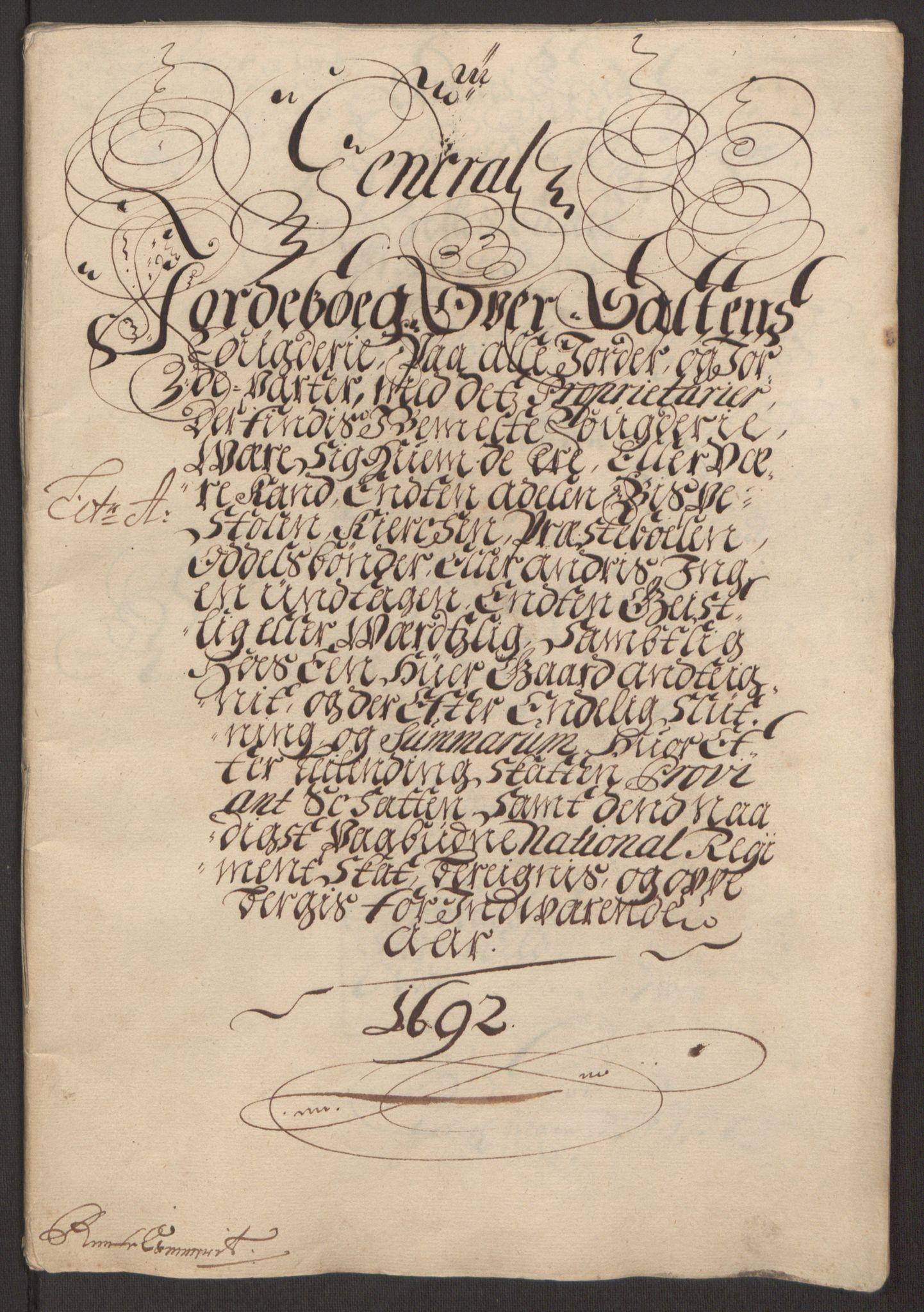 RA, Rentekammeret inntil 1814, Reviderte regnskaper, Fogderegnskap, R66/L4577: Fogderegnskap Salten, 1691-1693, s. 134