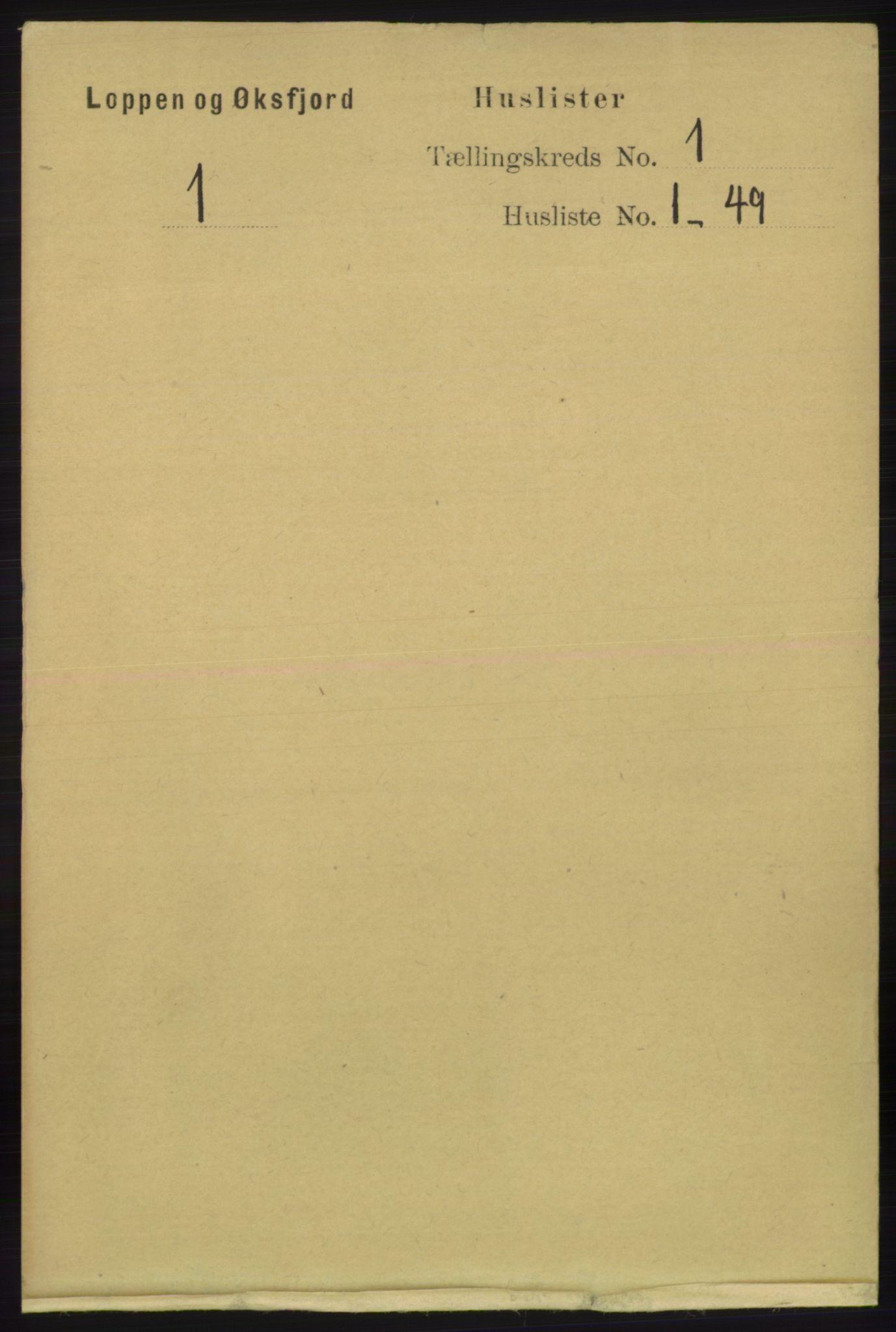 RA, Folketelling 1891 for 2014 Loppa herred, 1891, s. 14