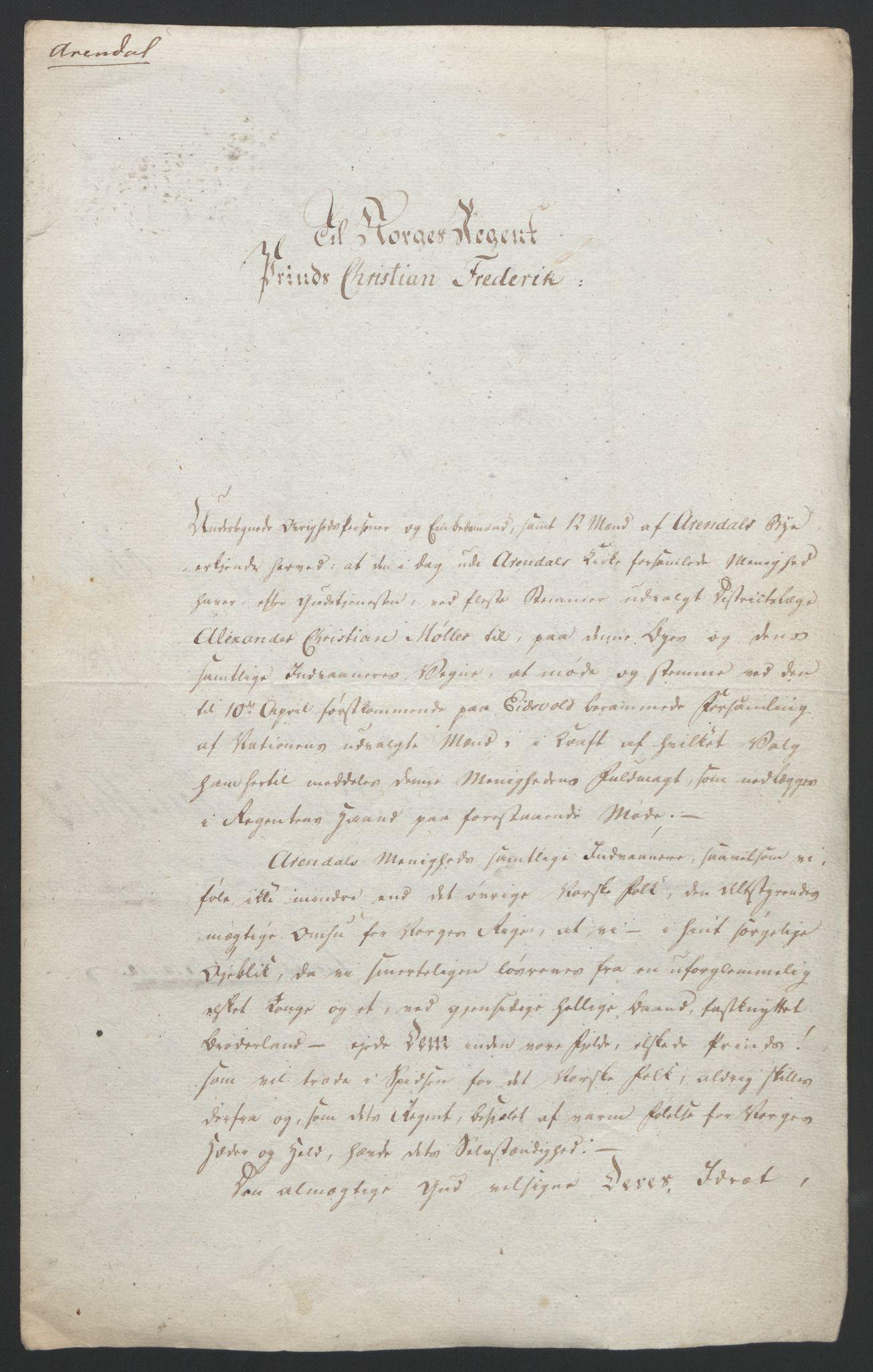 RA, Statsrådssekretariatet, D/Db/L0007: Fullmakter for Eidsvollsrepresentantene i 1814. , 1814, s. 3