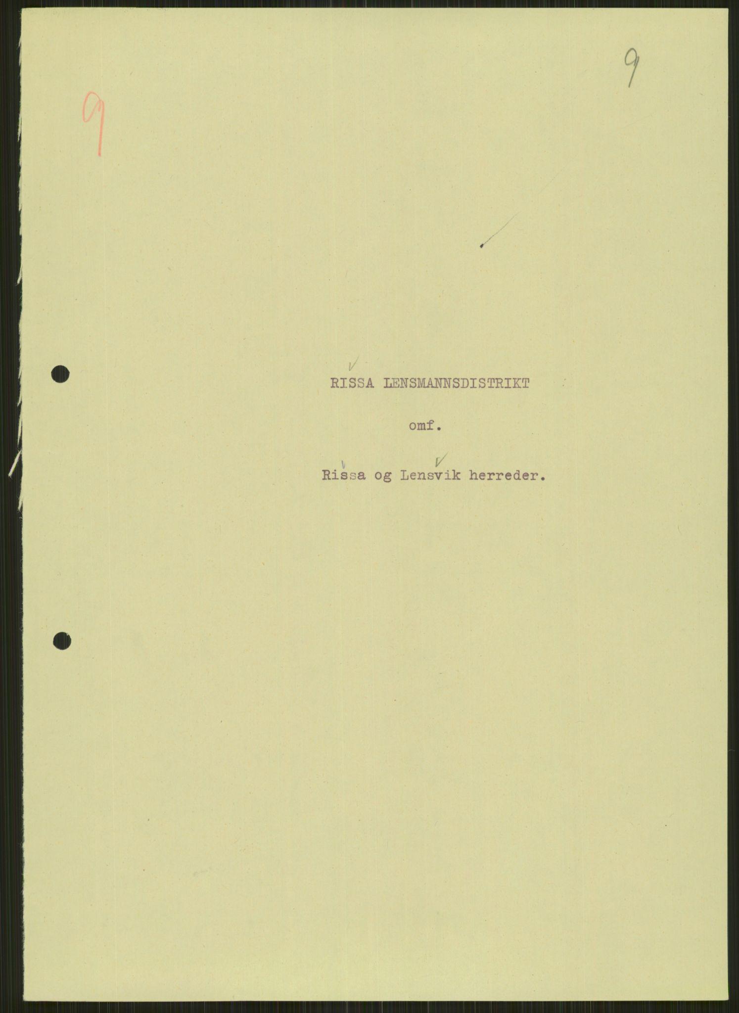 RA, Forsvaret, Forsvarets krigshistoriske avdeling, Y/Ya/L0016: II-C-11-31 - Fylkesmenn.  Rapporter om krigsbegivenhetene 1940., 1940, s. 68