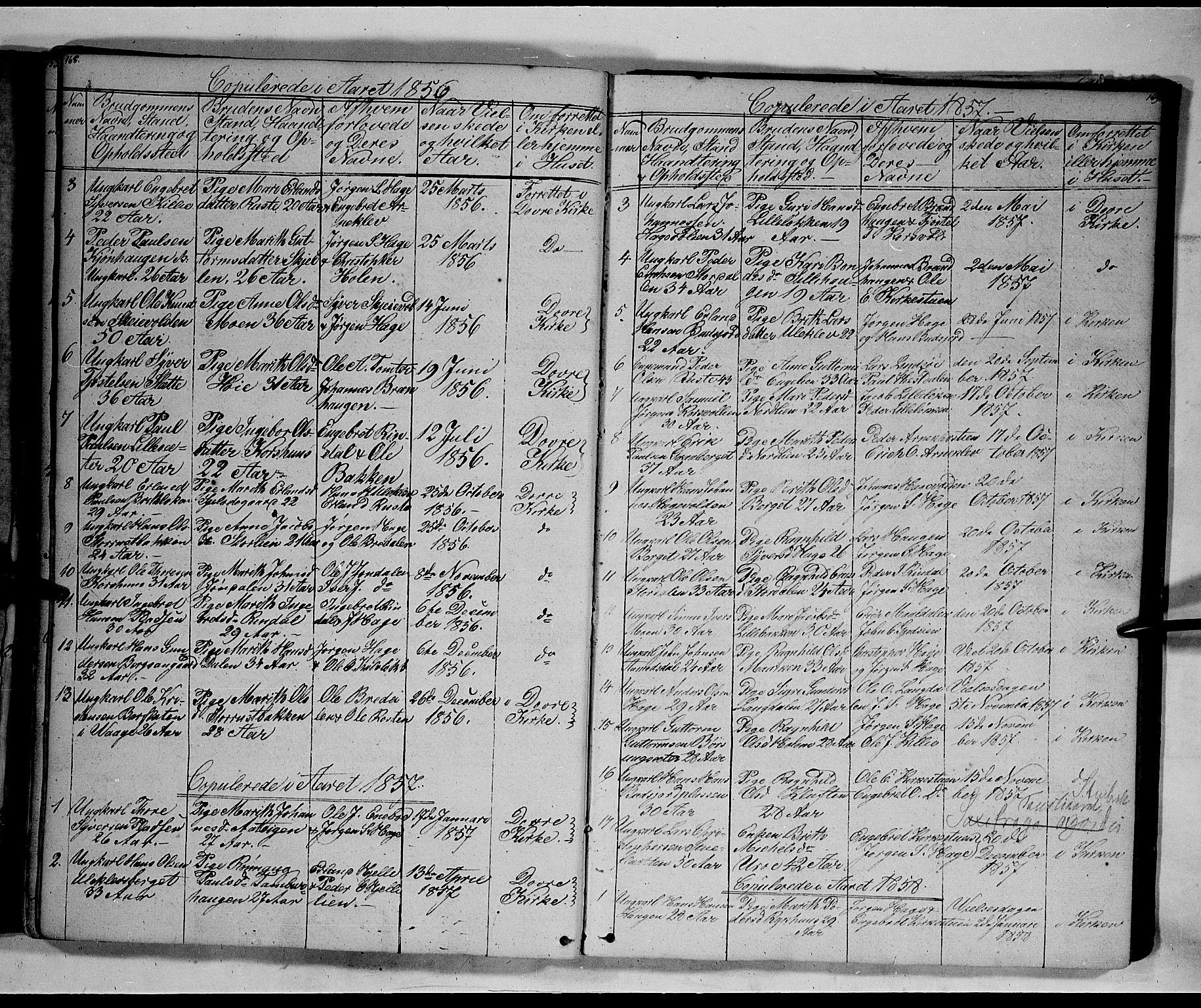 SAH, Lesja prestekontor, Klokkerbok nr. 3, 1842-1862, s. 168-169