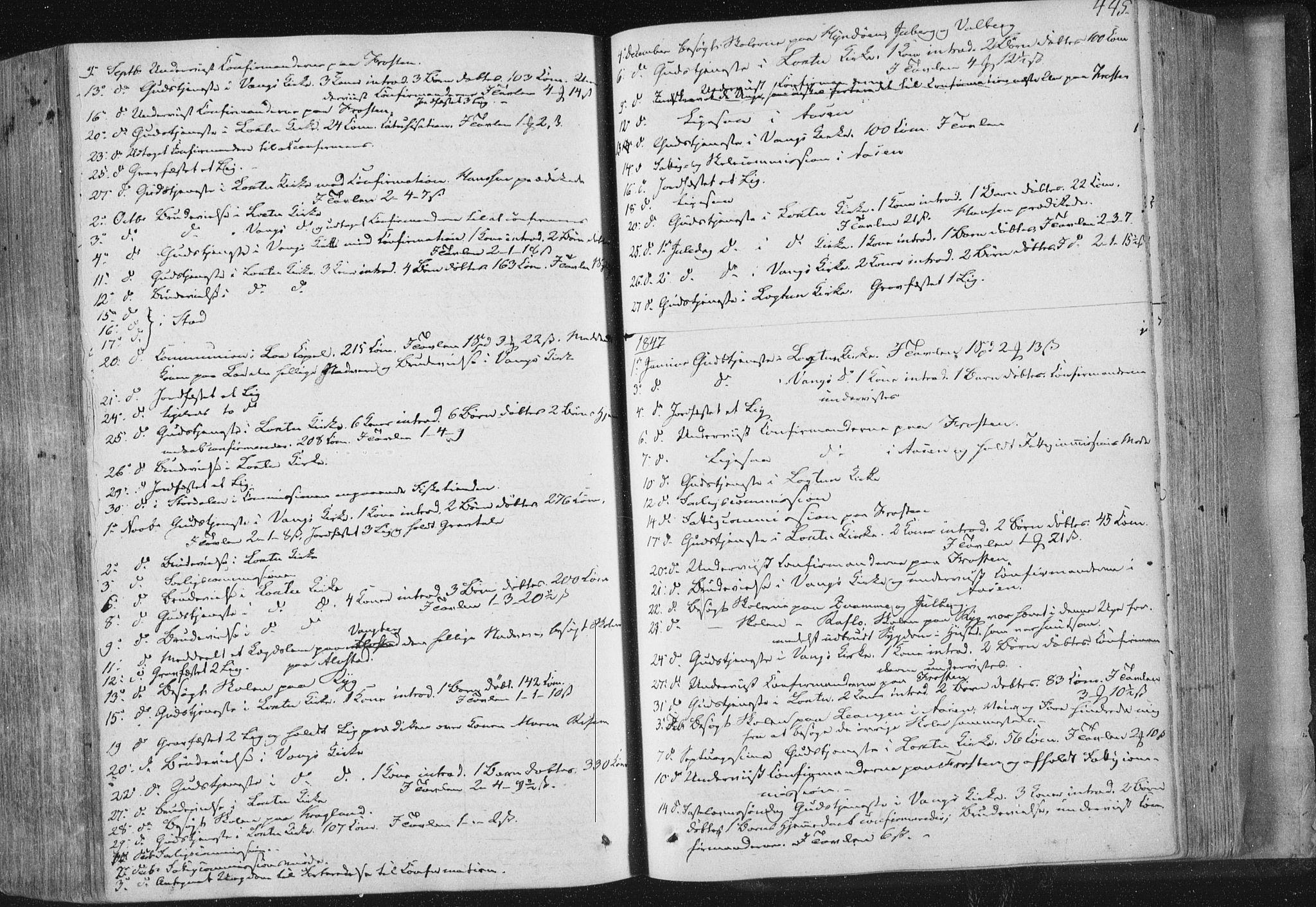 SAT, Ministerialprotokoller, klokkerbøker og fødselsregistre - Nord-Trøndelag, 713/L0115: Ministerialbok nr. 713A06, 1838-1851, s. 445