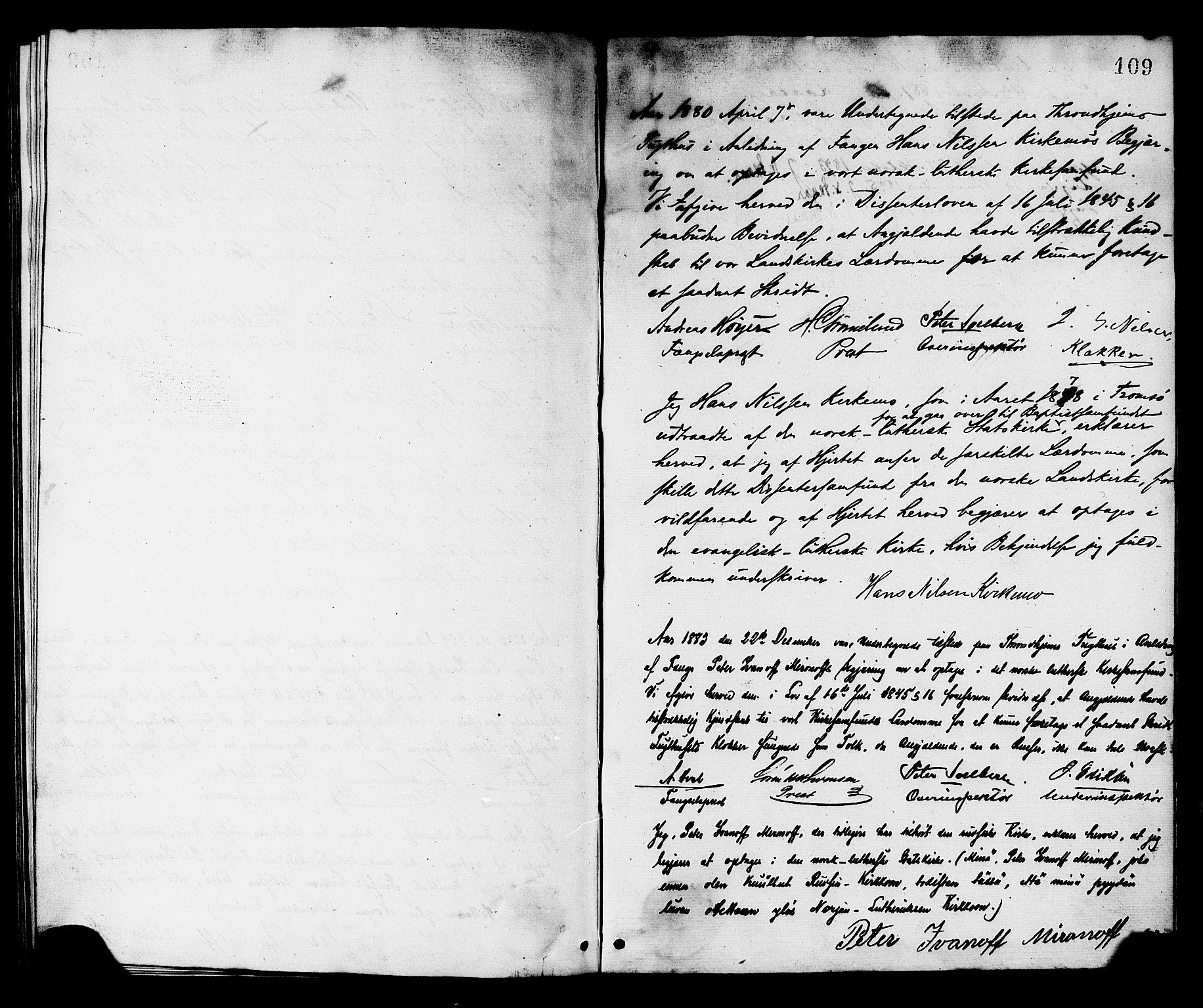SAT, Ministerialprotokoller, klokkerbøker og fødselsregistre - Sør-Trøndelag, 624/L0482: Ministerialbok nr. 624A03, 1870-1918, s. 109