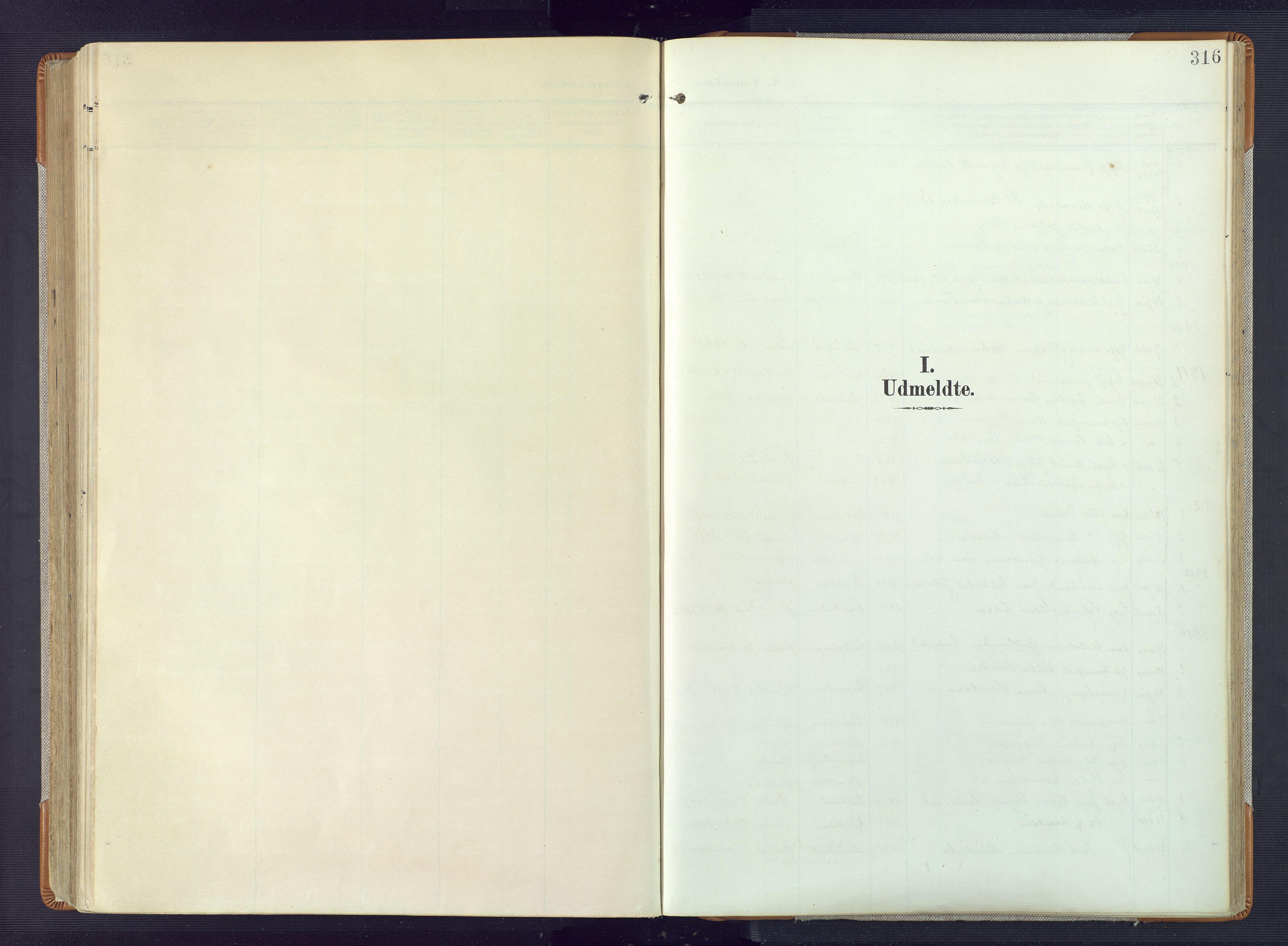 SAK, Øyestad sokneprestkontor, F/Fa/L0019: Ministerialbok nr. A 19, 1908-1922, s. 316