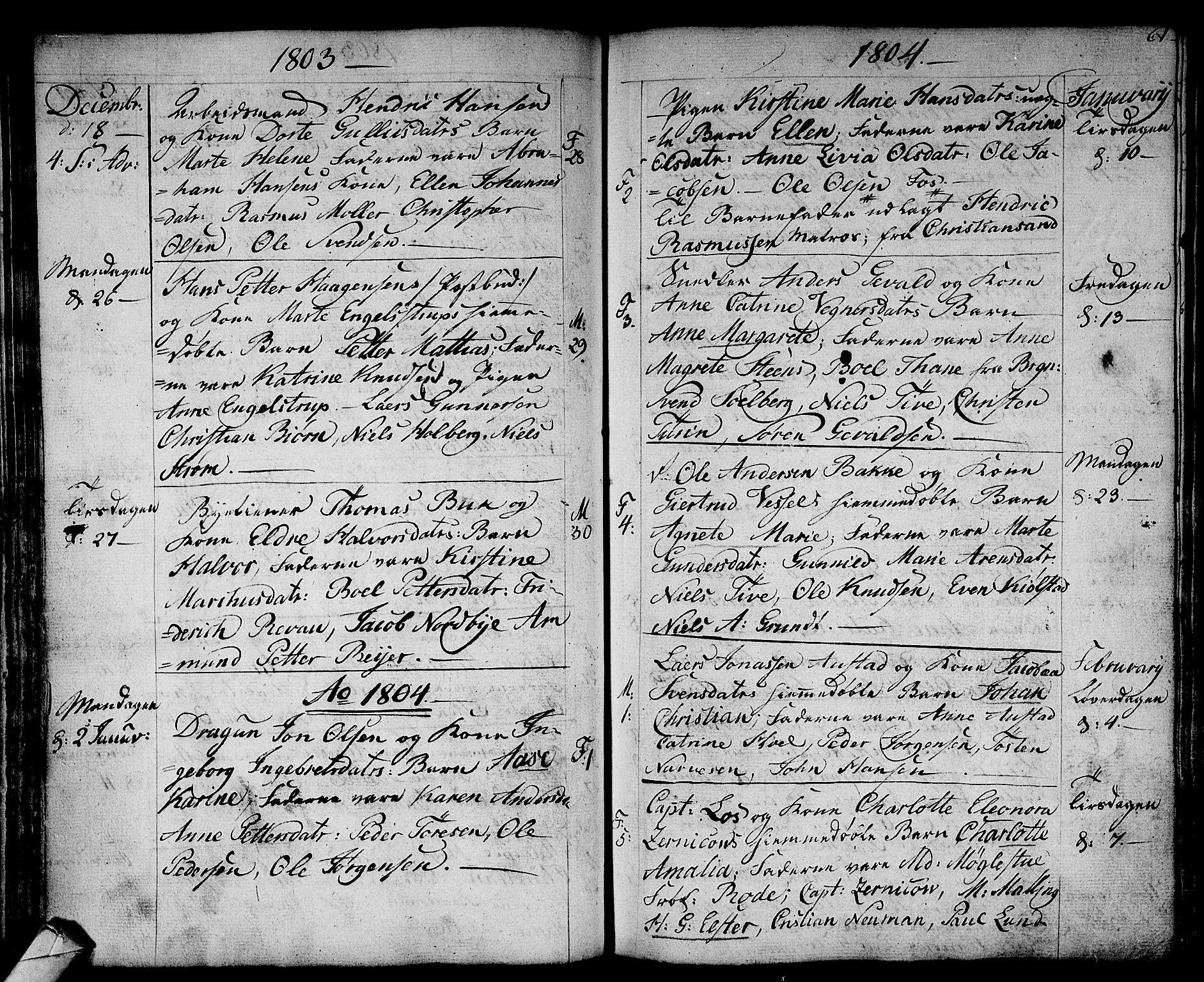 SAKO, Strømsø kirkebøker, F/Fa/L0010: Ministerialbok nr. I 10, 1792-1822, s. 61
