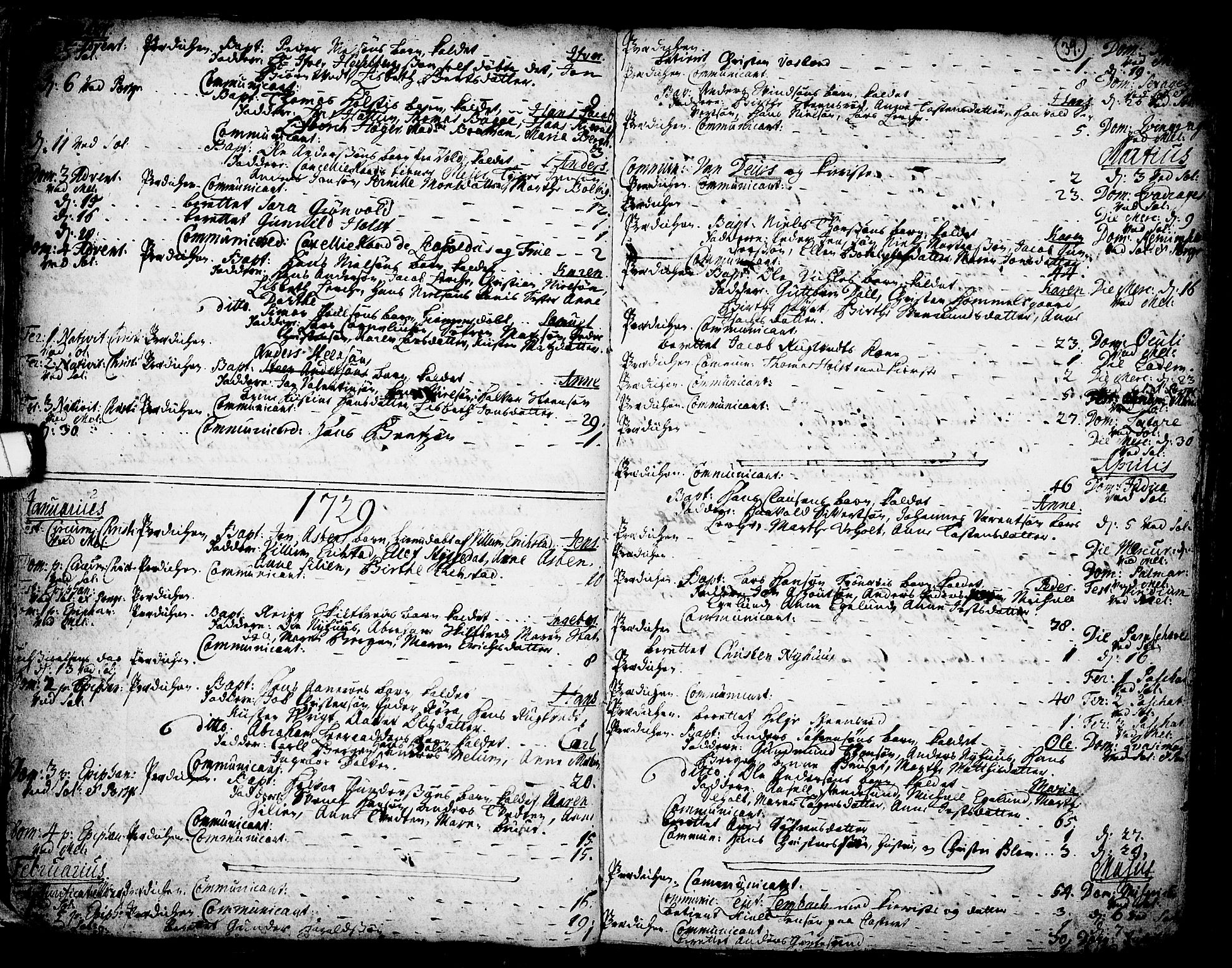 SAKO, Solum kirkebøker, F/Fa/L0002: Ministerialbok nr. I 2, 1713-1761, s. 39