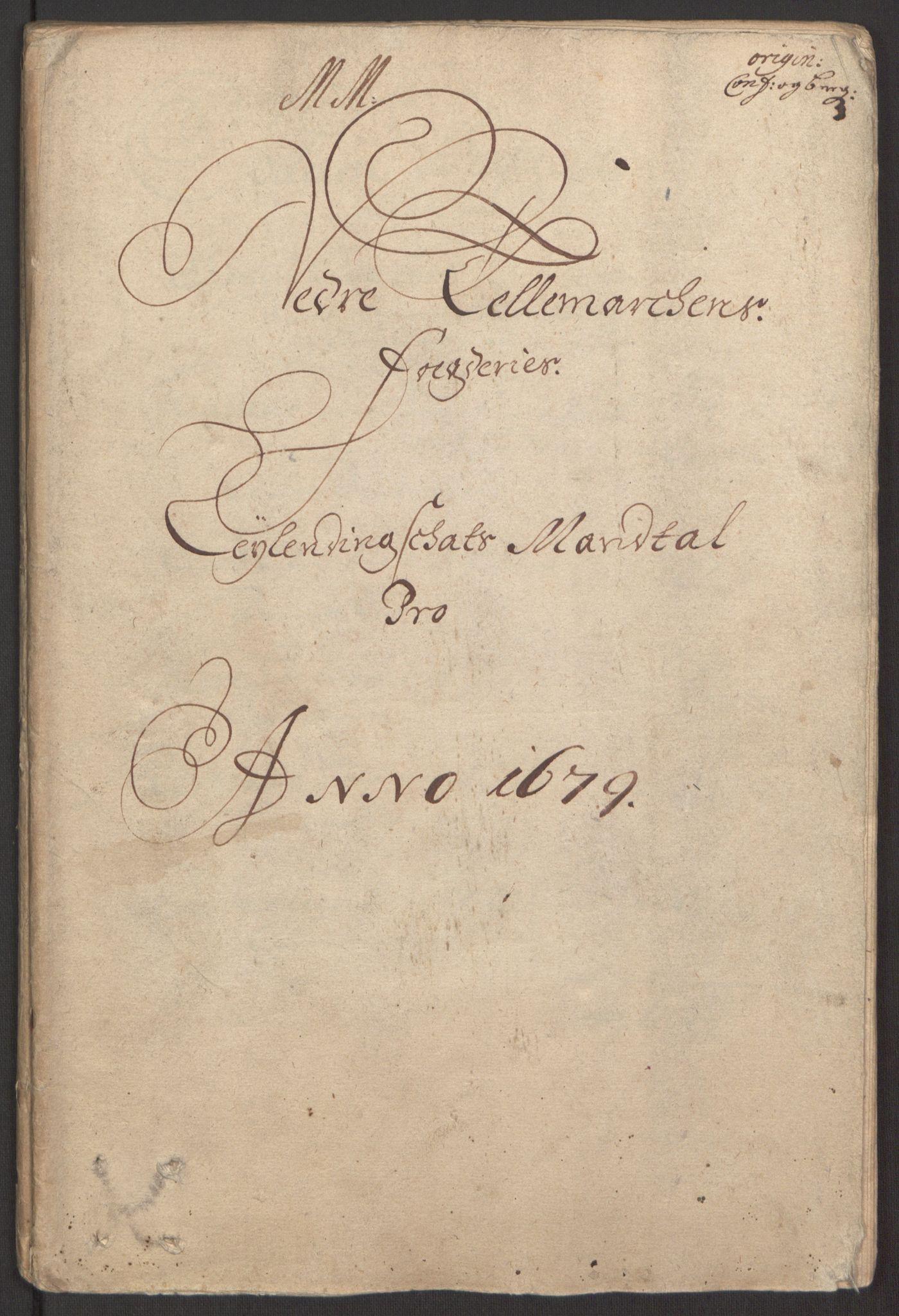 RA, Rentekammeret inntil 1814, Reviderte regnskaper, Fogderegnskap, R35/L2072: Fogderegnskap Øvre og Nedre Telemark, 1679, s. 33