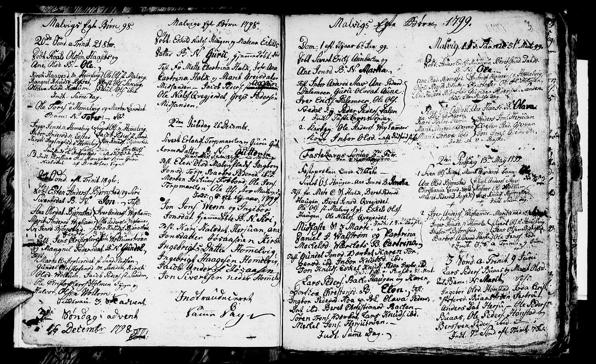 SAT, Ministerialprotokoller, klokkerbøker og fødselsregistre - Sør-Trøndelag, 616/L0419: Klokkerbok nr. 616C02, 1797-1816, s. 3