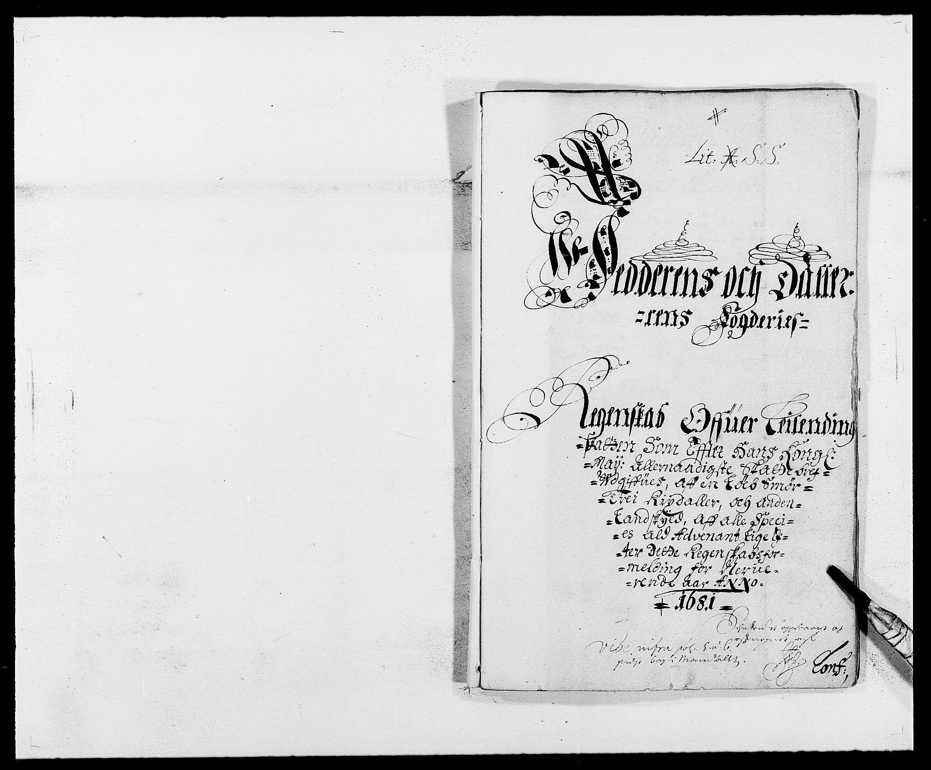 RA, Rentekammeret inntil 1814, Reviderte regnskaper, Fogderegnskap, R46/L2722: Fogderegnskap Jæren og Dalane, 1681, s. 1