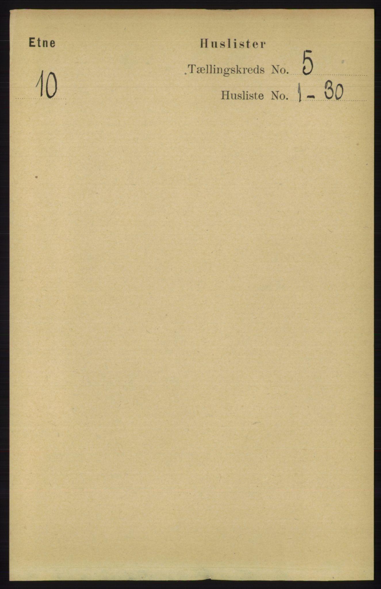RA, Folketelling 1891 for 1211 Etne herred, 1891, s. 984