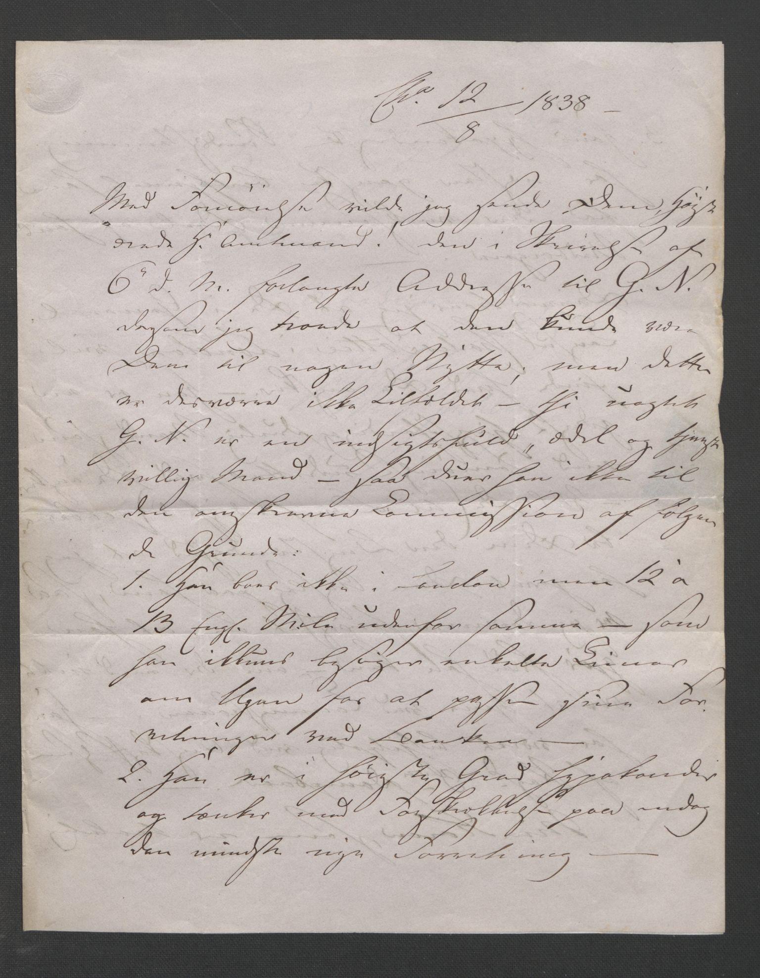 RA, Blom, Gustav Peter, F/L0002: Transkripsjoner, brev og manuskript, s. 5