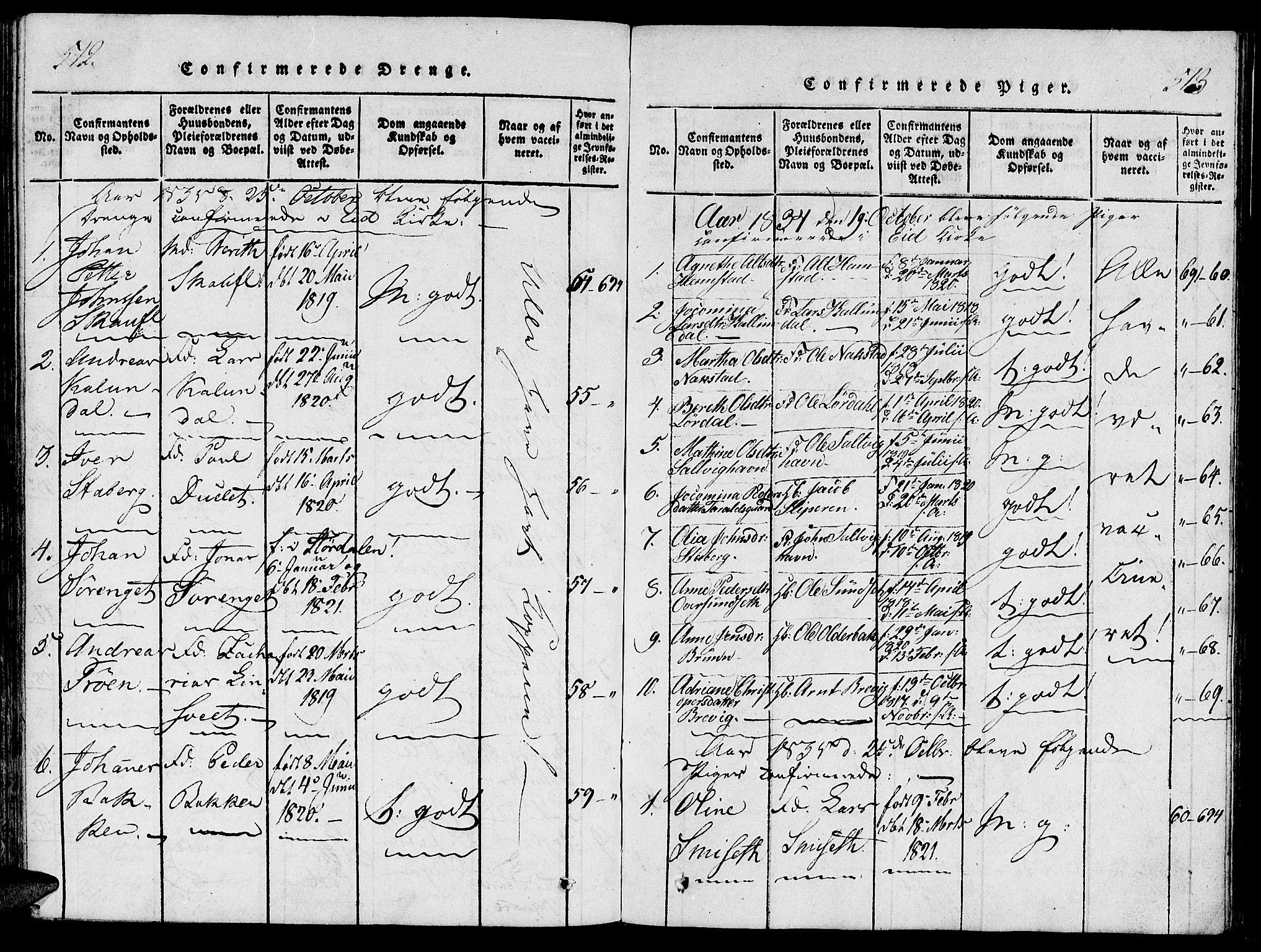 SAT, Ministerialprotokoller, klokkerbøker og fødselsregistre - Nord-Trøndelag, 733/L0322: Ministerialbok nr. 733A01, 1817-1842, s. 512-513