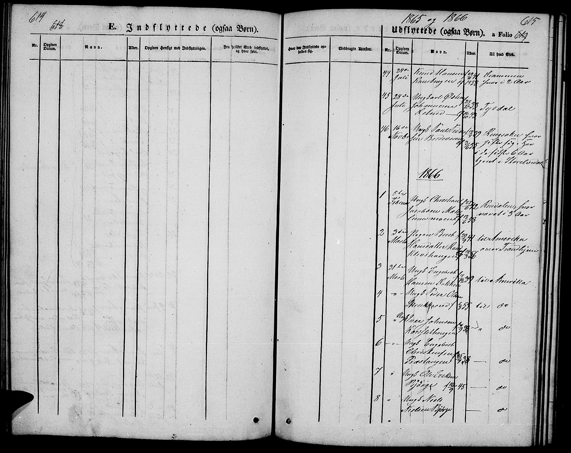 SAH, Ringebu prestekontor, Klokkerbok nr. 3, 1854-1866, s. 614-615